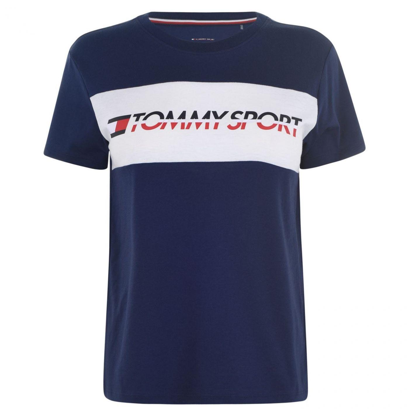 Tommy Sport Boxy Logo T Shirt