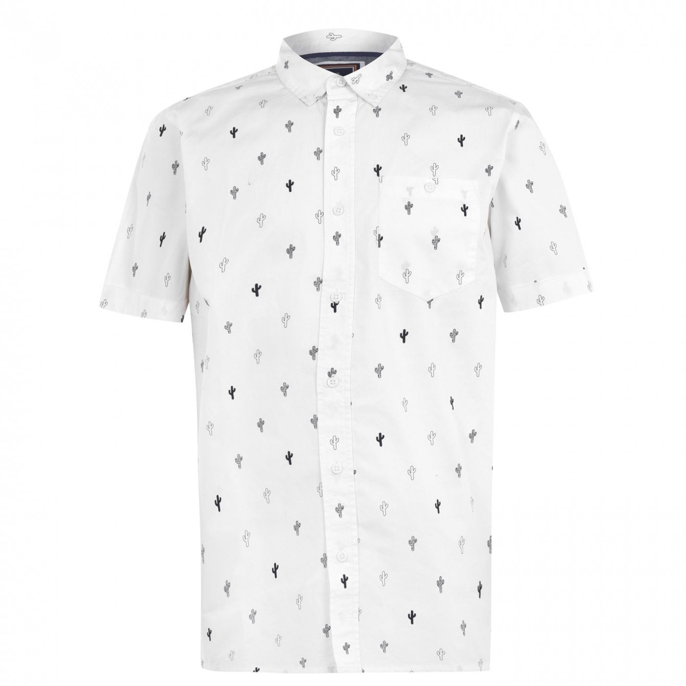 SoulCal Short Sleeve AOP Shirt Mens