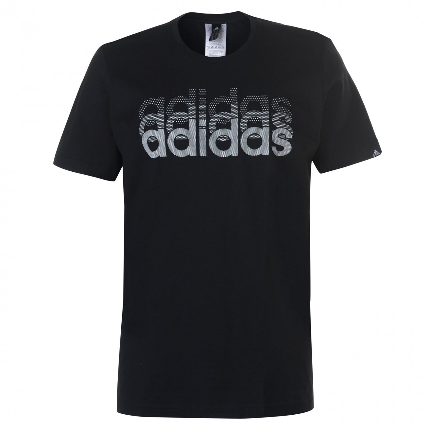 Adidas Fade Linear T Shirt Mens