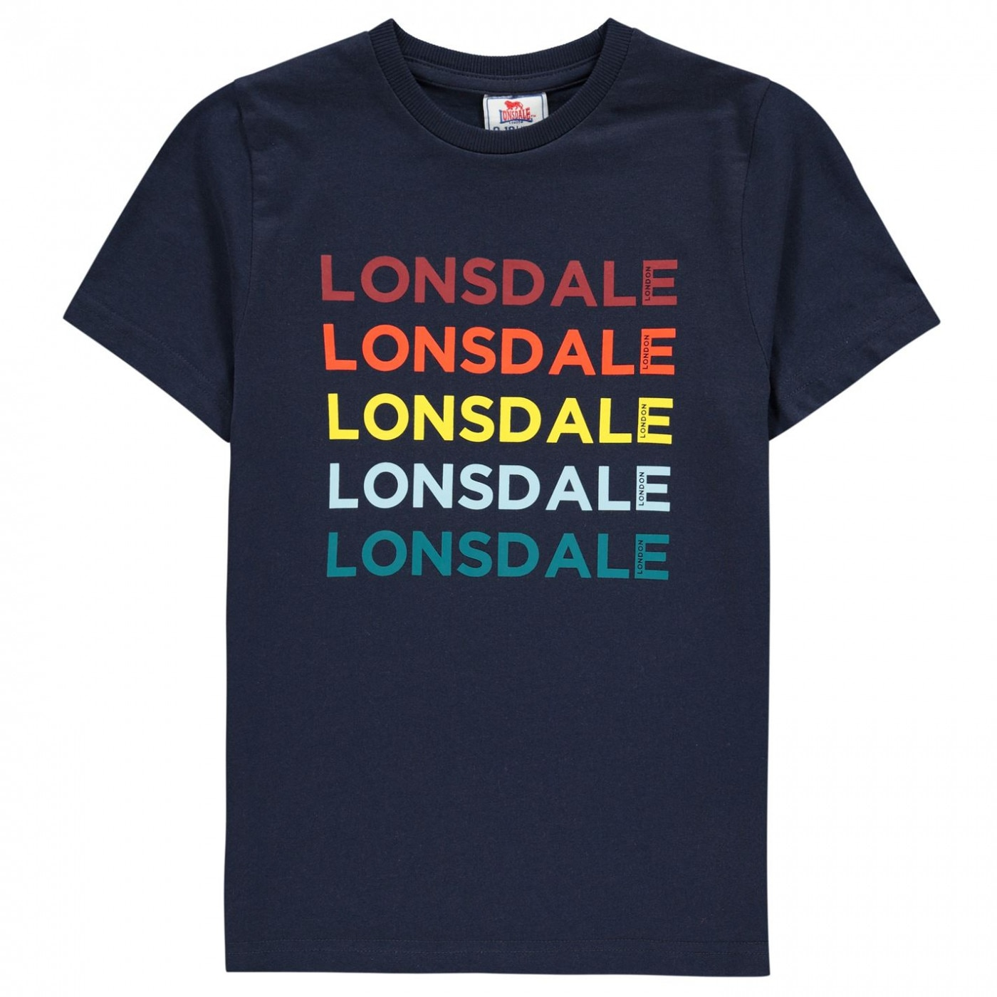 Lonsdale Rainbow Logo T-Shirt Junior Boys