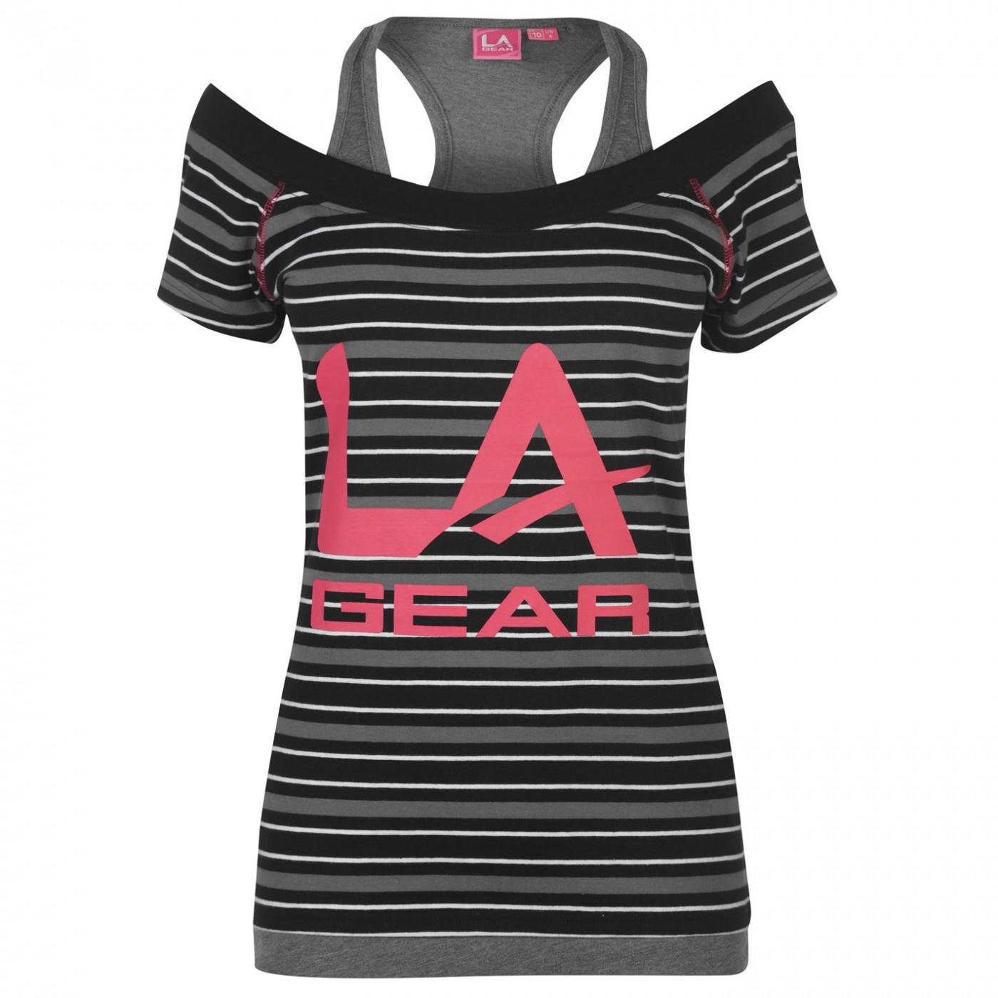LA Gear Multi Layer T Shirt Ladies