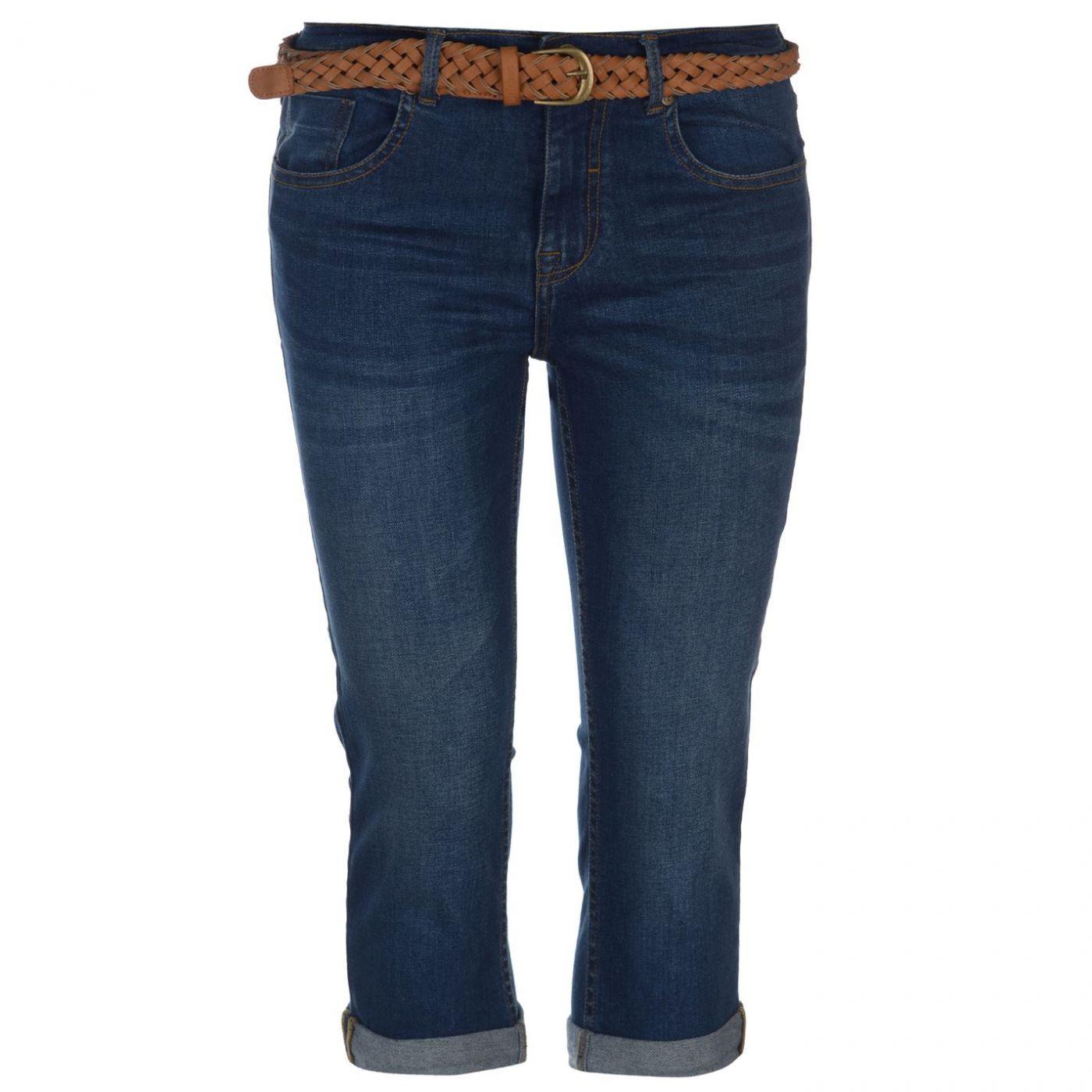 SoulCal Belt Crop Jeans Ladies