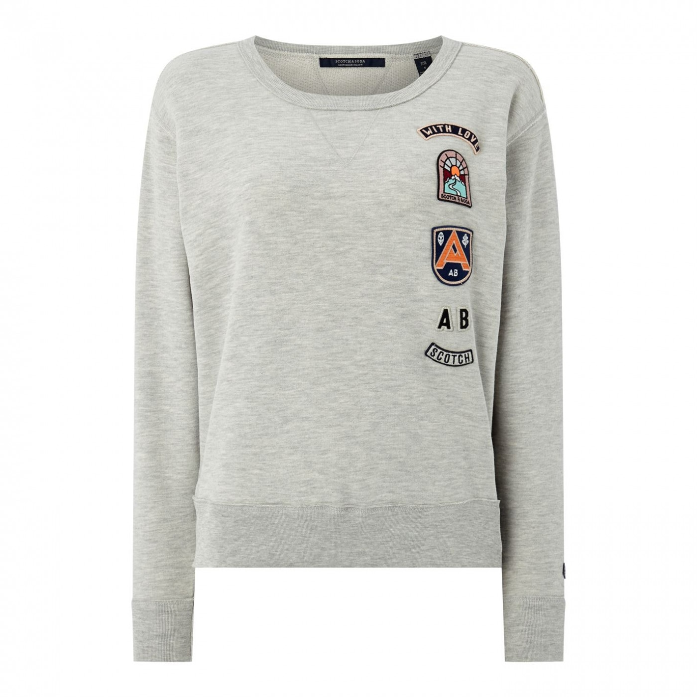 Scotch and Soda Badge Sweatshirt Ladies