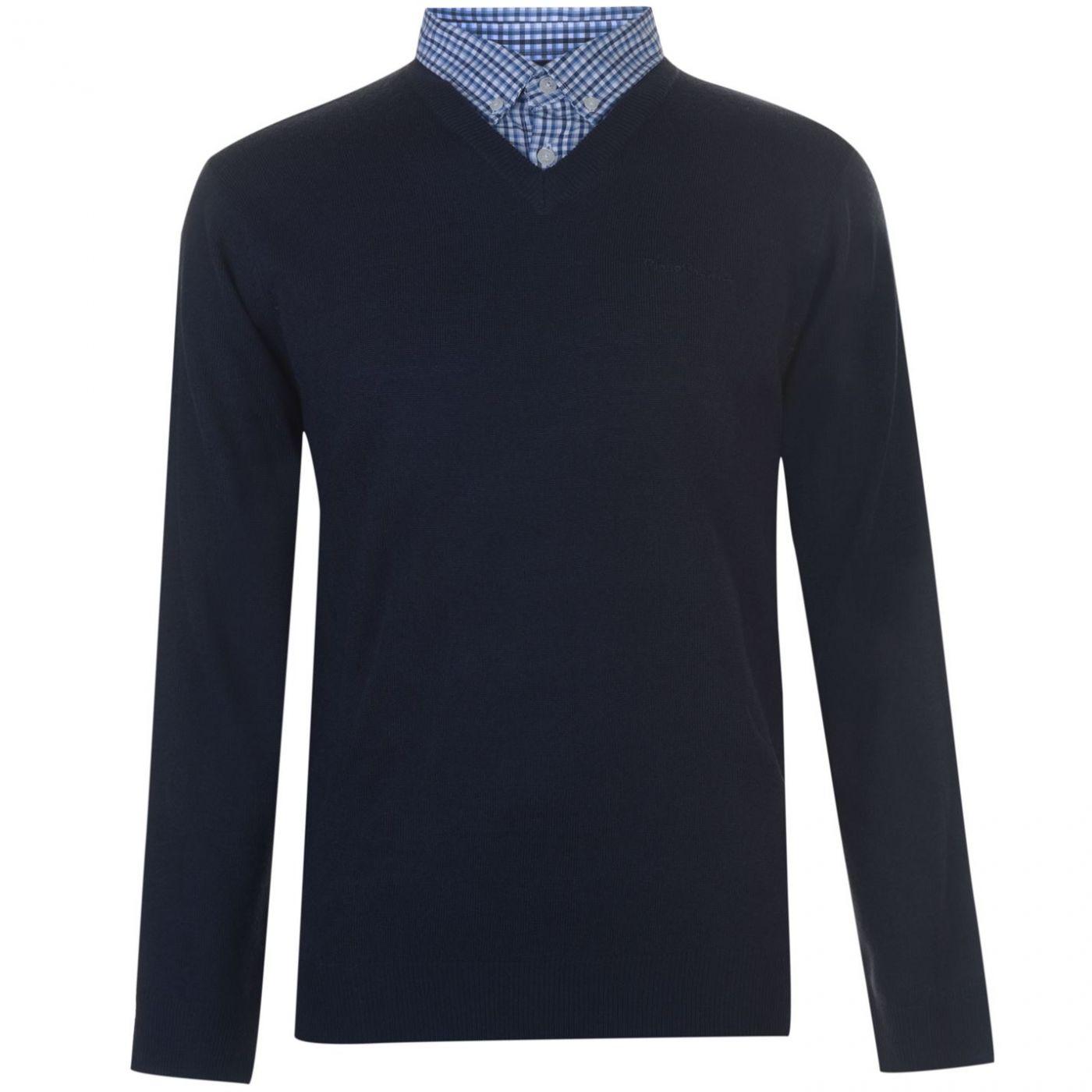 Men's sweater Pierre Cardin Mock V Neck Knit
