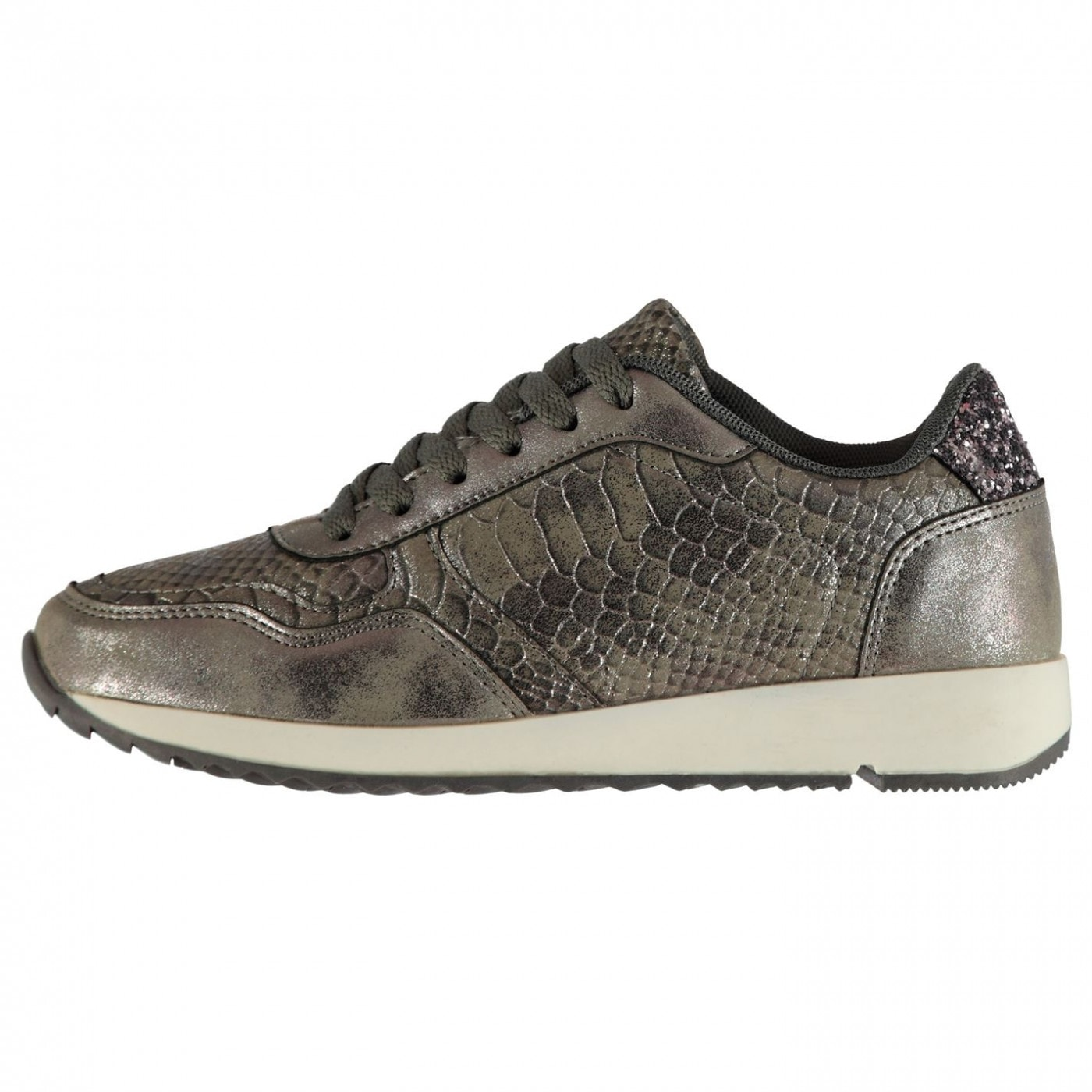 Lee Cooper Snakeskin Ladies Trainers