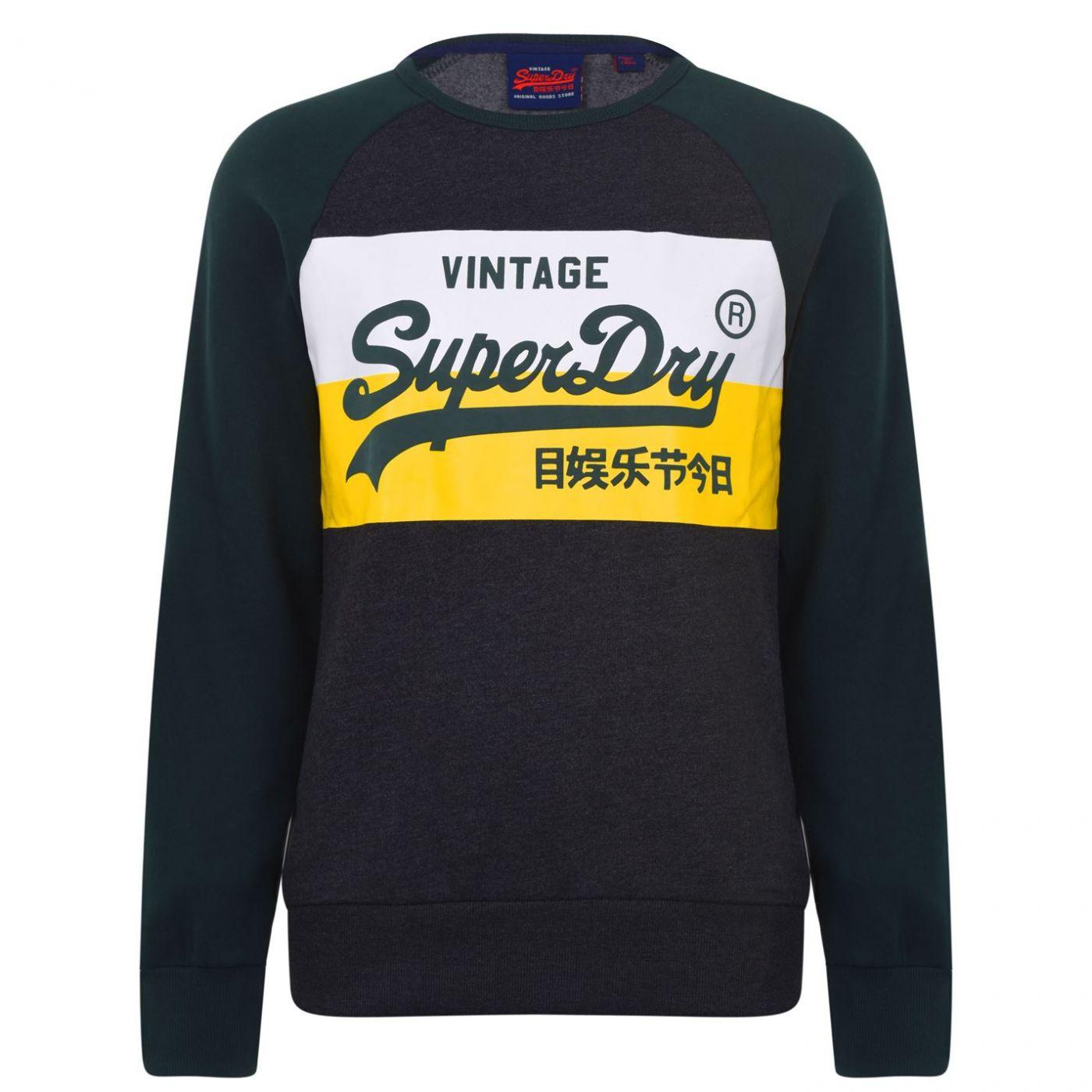 Superdry Vintage Block Crew Neck Sweatshirt