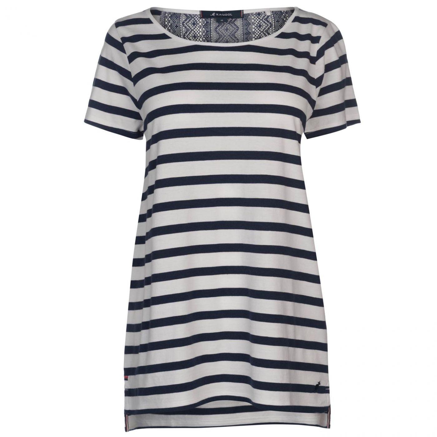 Kangol Lace Back T Shirt Ladies