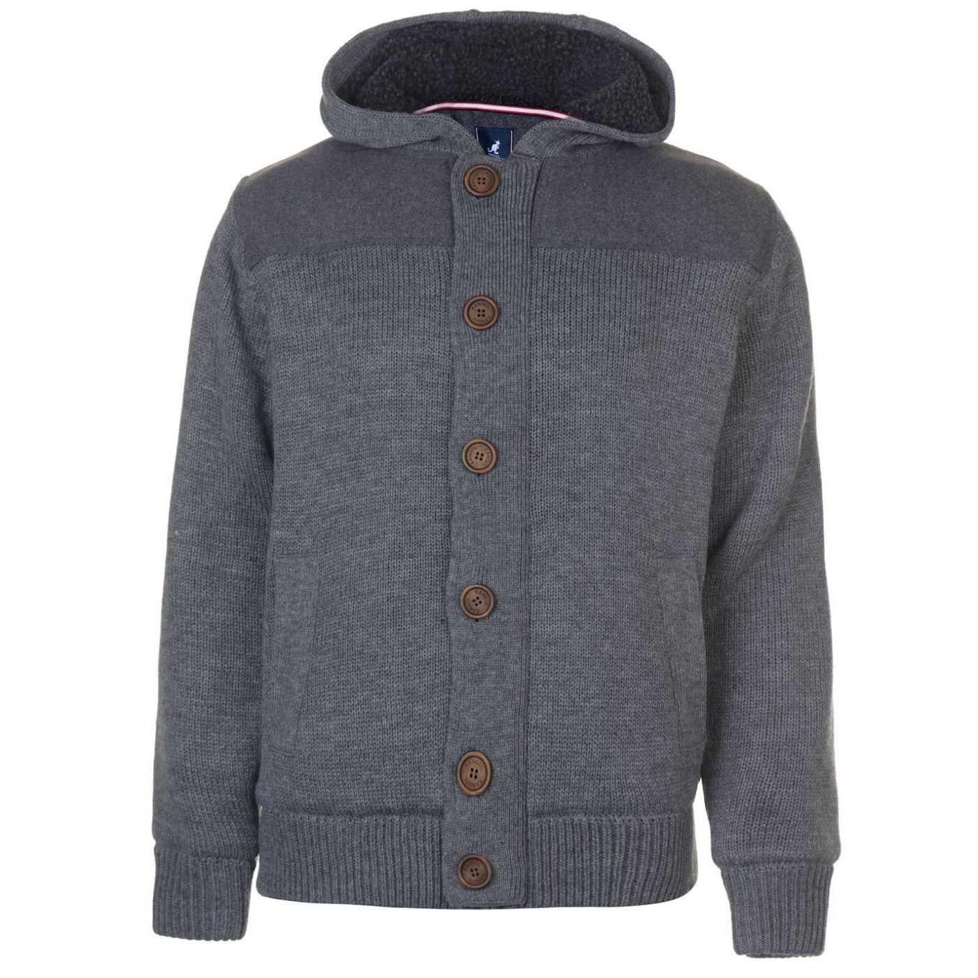 Kangol Button Lined Knit Cardigan Mens