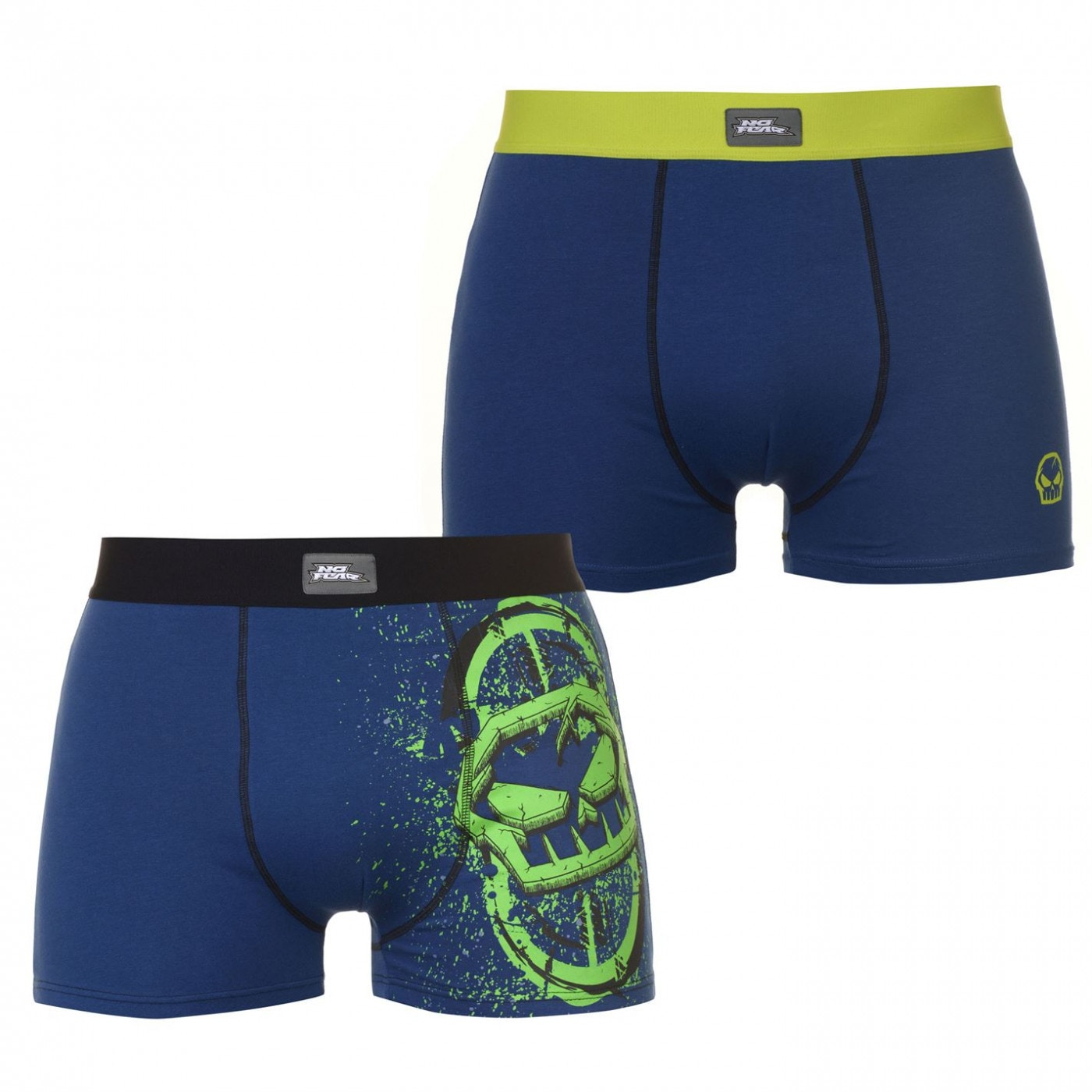 No Fear Grafik 2 Pack Trunks Mens