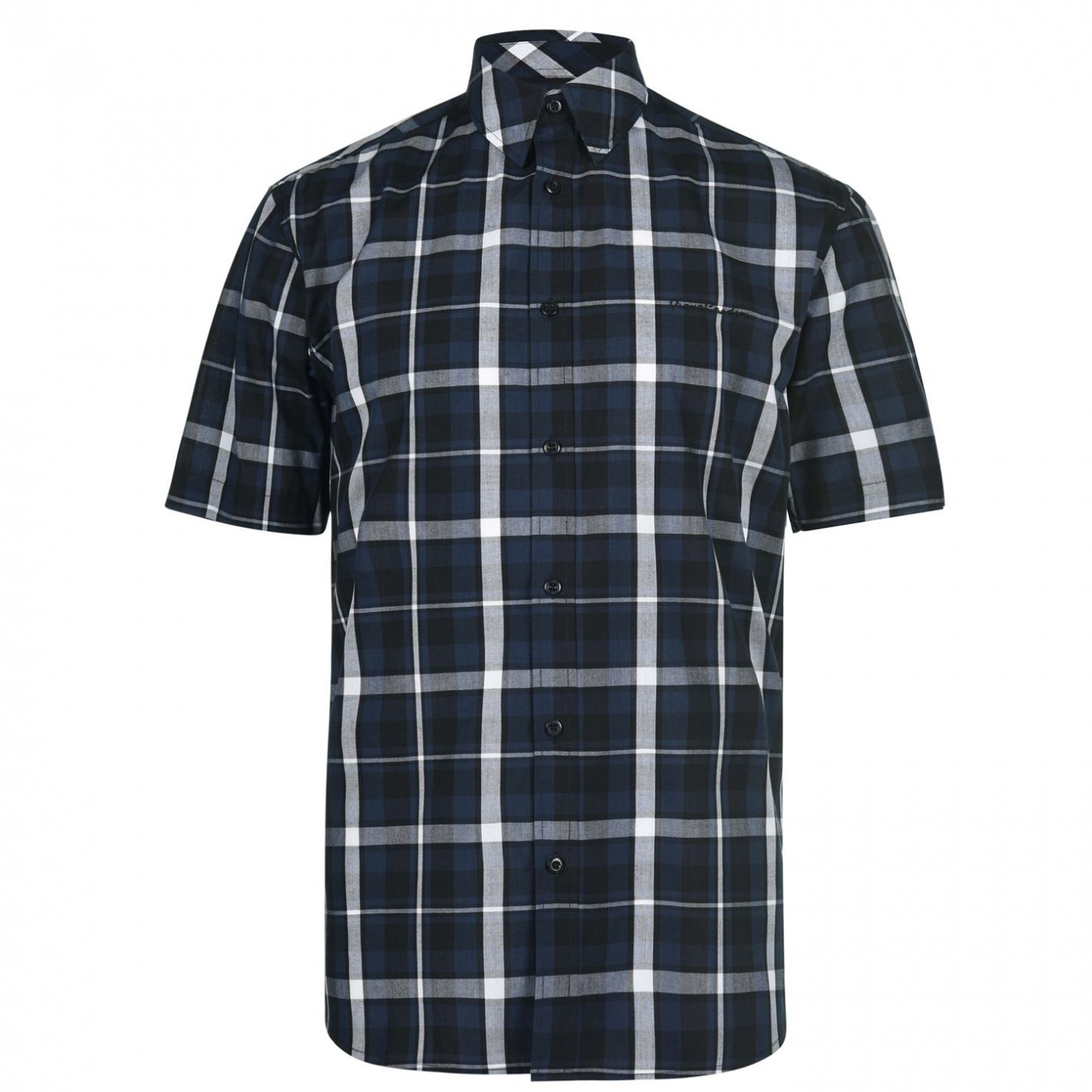 Pierre Cardin Check Print Short Sleeve Shirt Mens