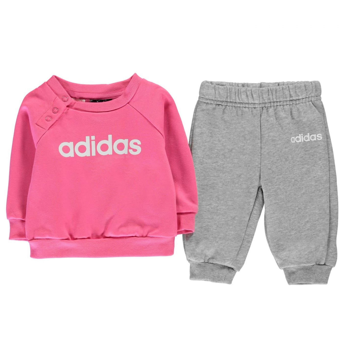 Adidas Jumper and Joggers Set Baby Girls