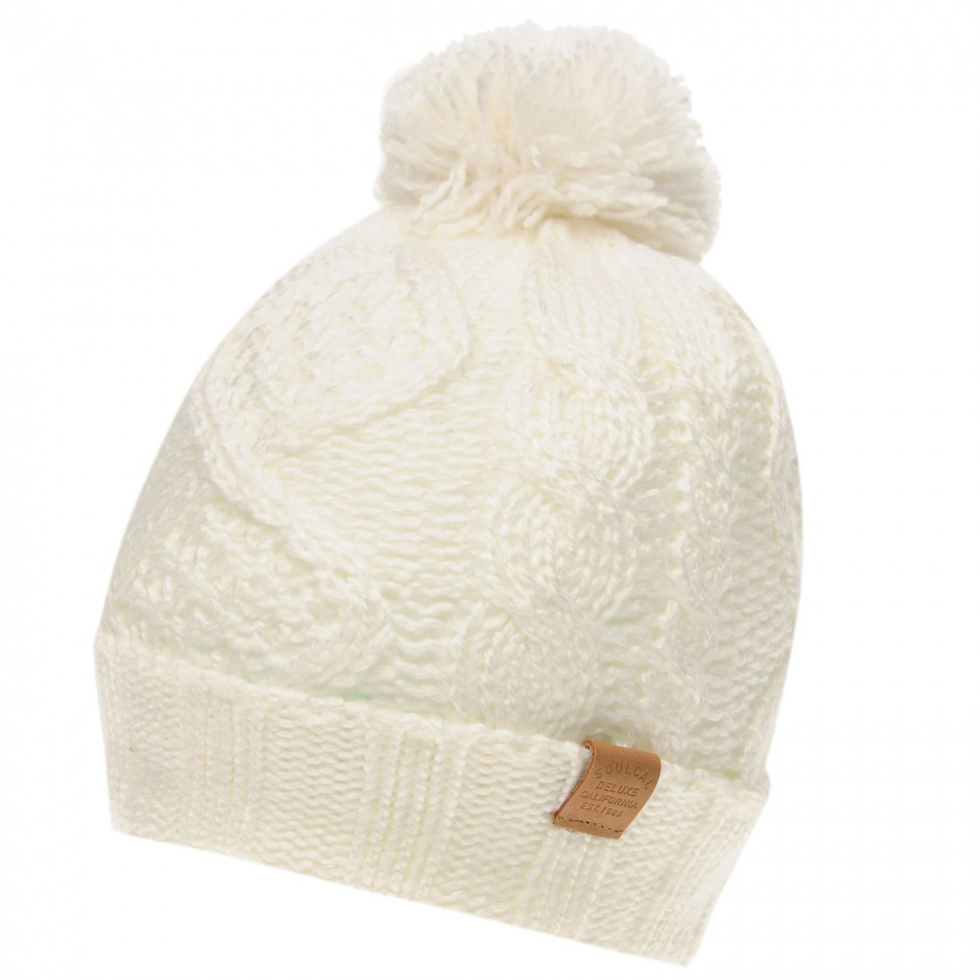 SoulCal Cable Pompom Hat Ladies