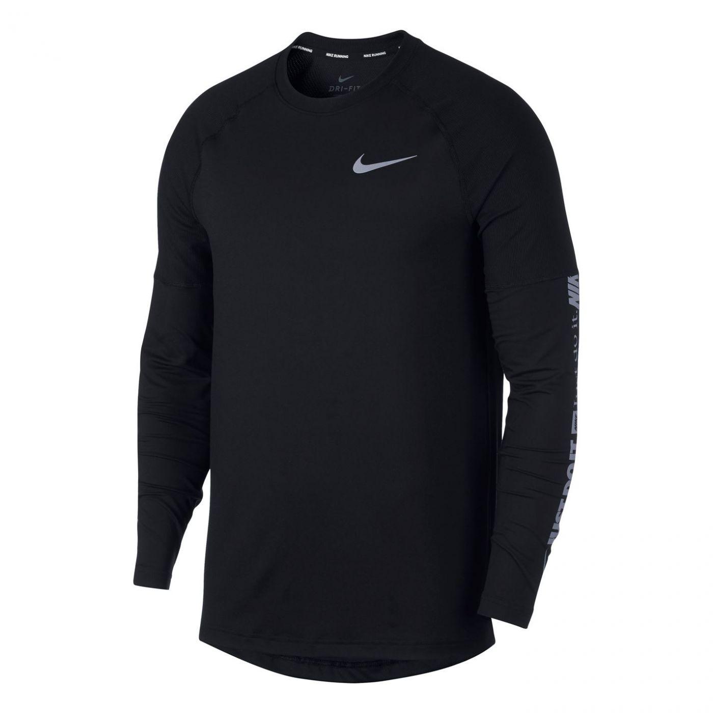 Nike Element Long Sleeve Running T Shirt Mens