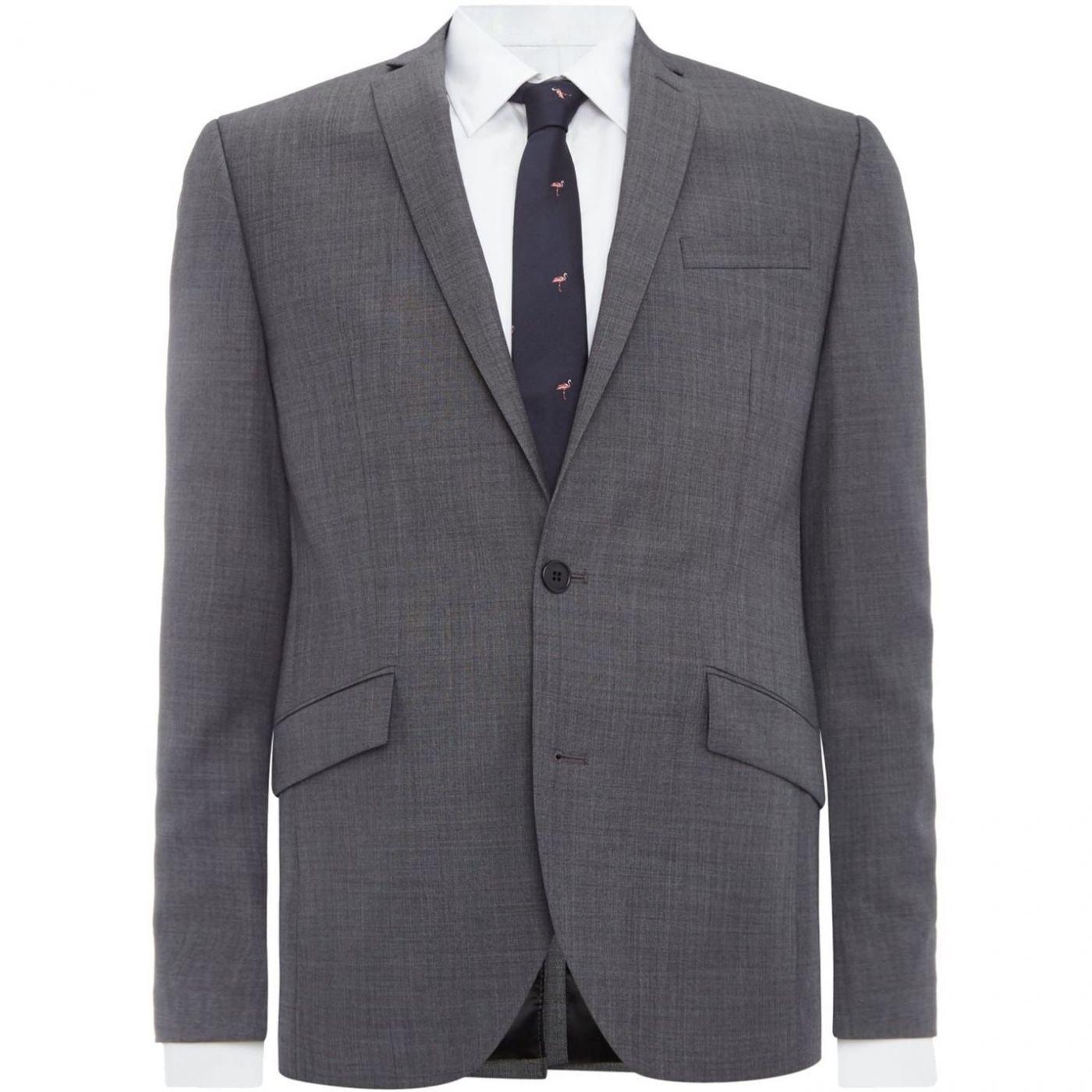 Kenneth Cole Taylor SB2 Sharkskin Suit Jacket