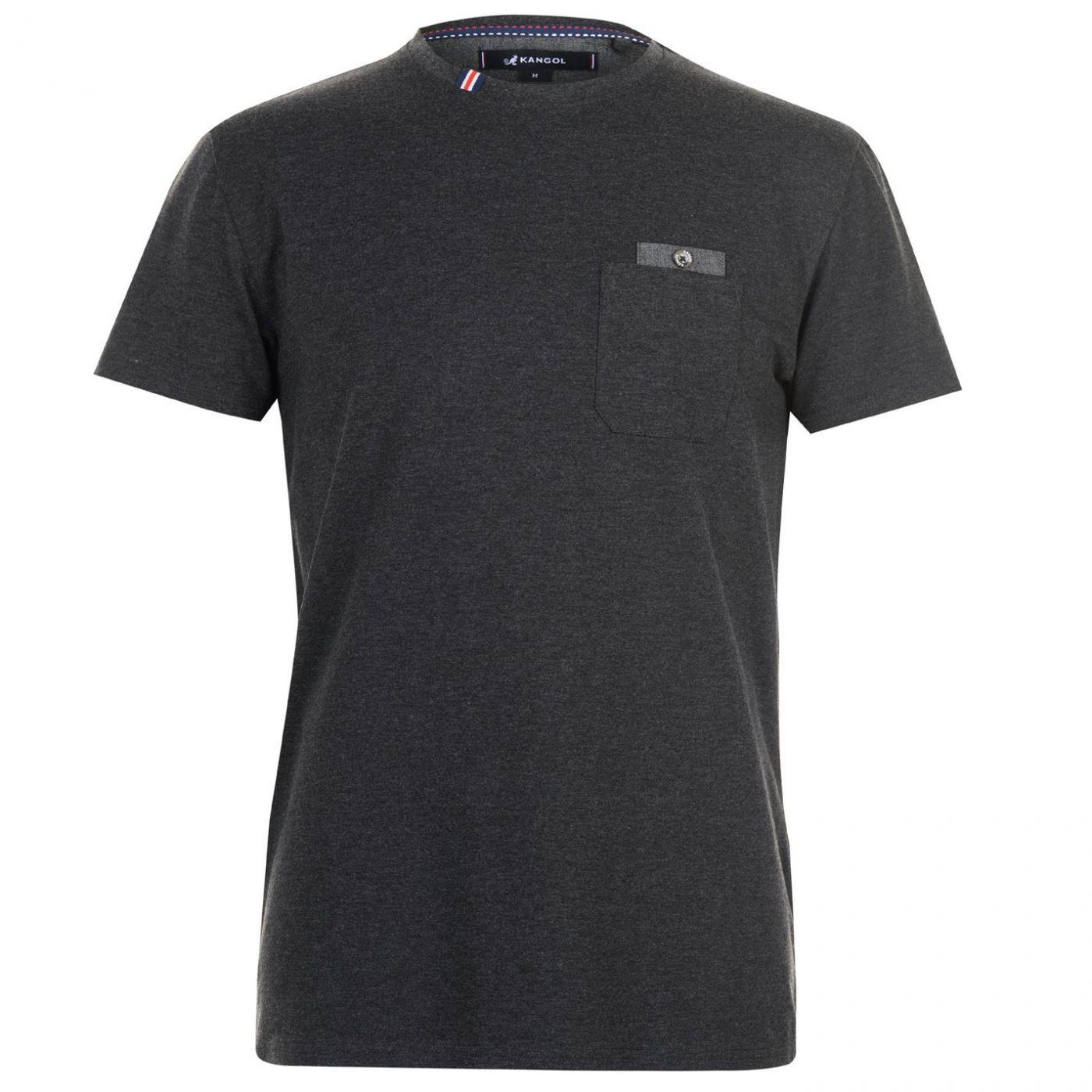 Triko Triko Kangol Chambray Pocket T Shirt pánske