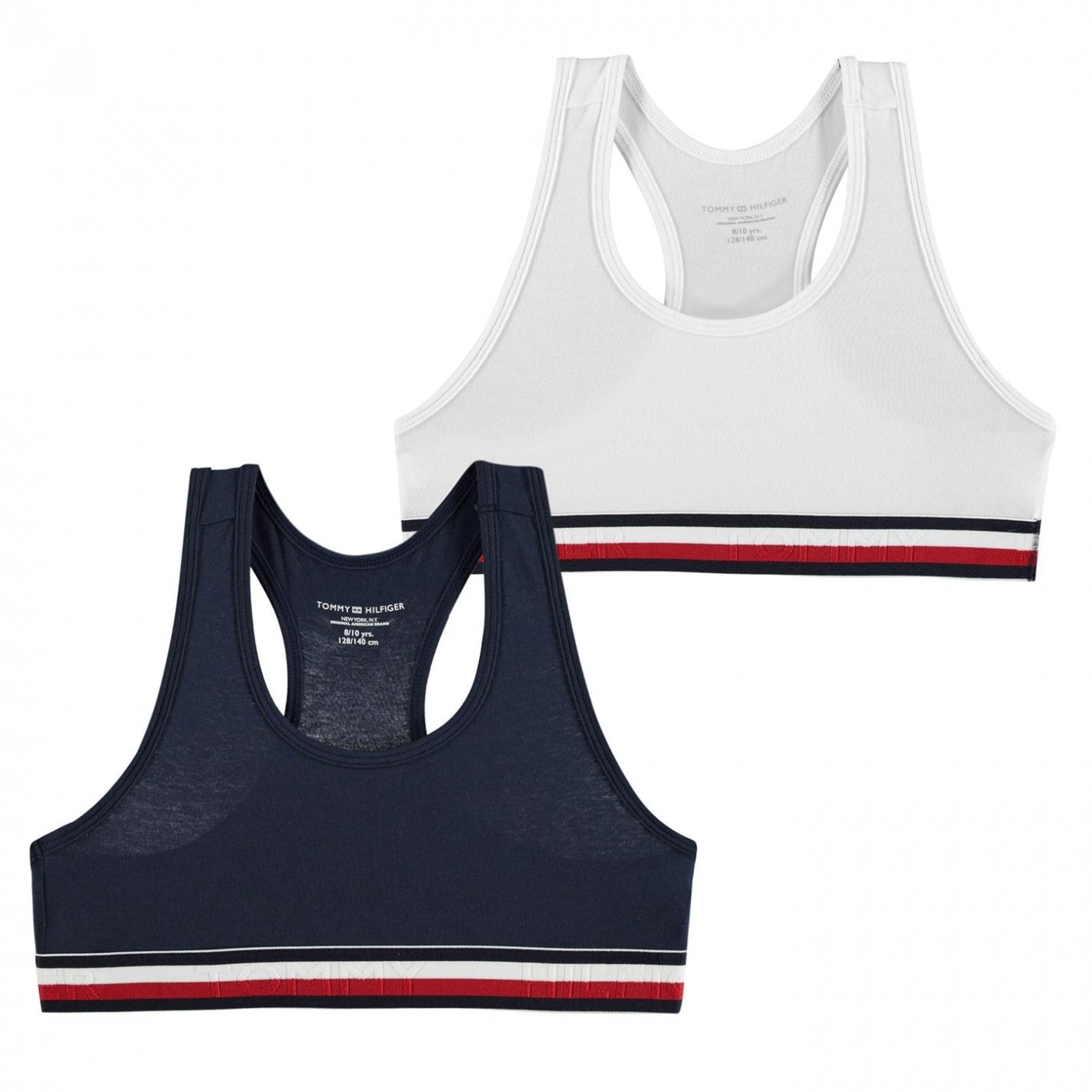 Tommy Hilfiger 2 Pack Plain Bikini Tops