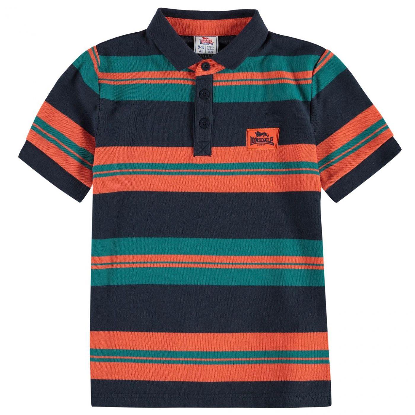 Lonsdale YD Stripe Polo Shirt Junior Boys