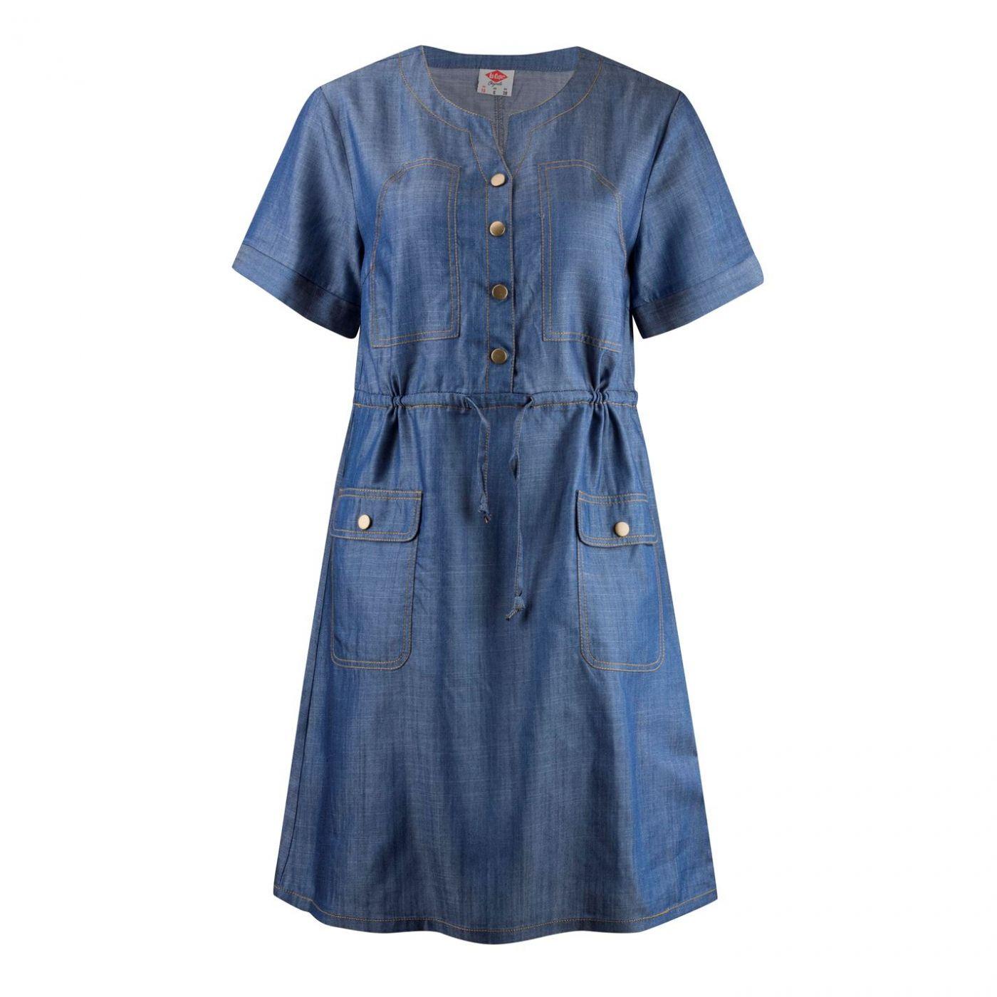 Lee Cooper Denim Shirt Dress Ladies