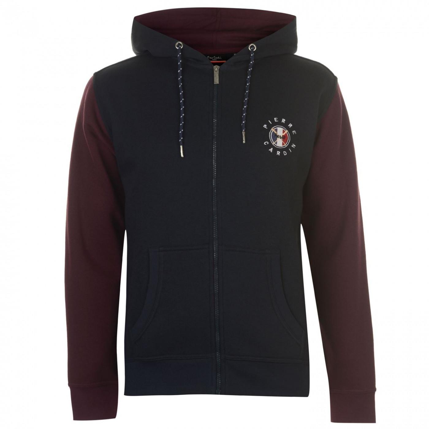 Men's hoodie Pierre Cardin Badge Zip Up