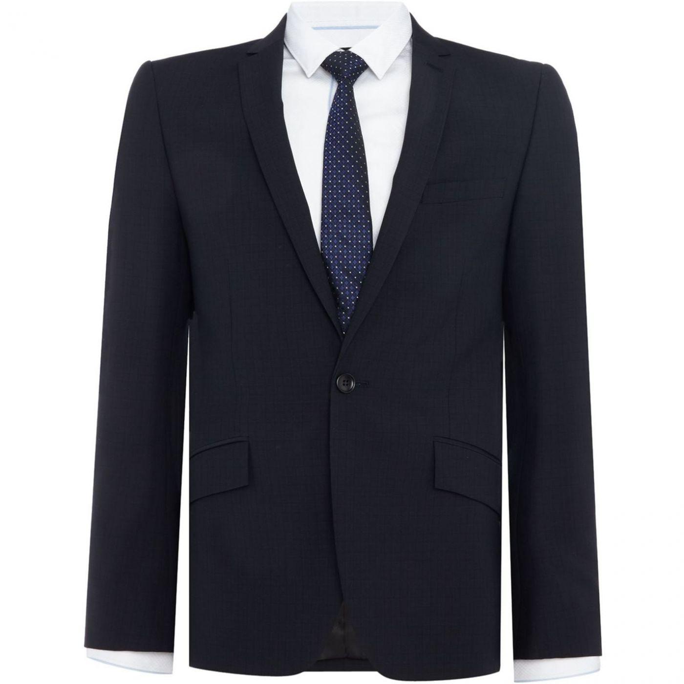 Kenneth Cole Devan slim fit tonal check suit jacket