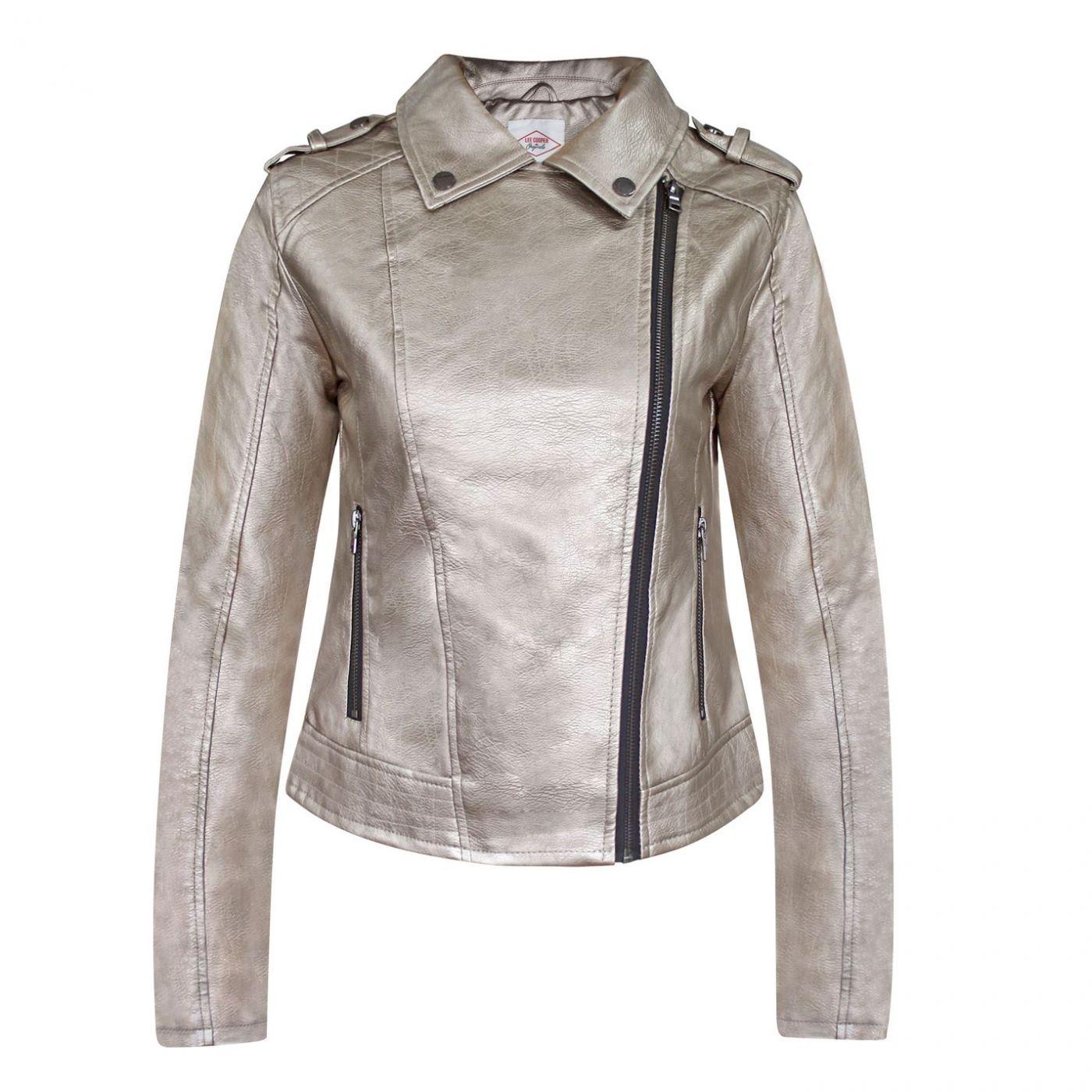 Lee Cooper Zip PU Jacket Ladies