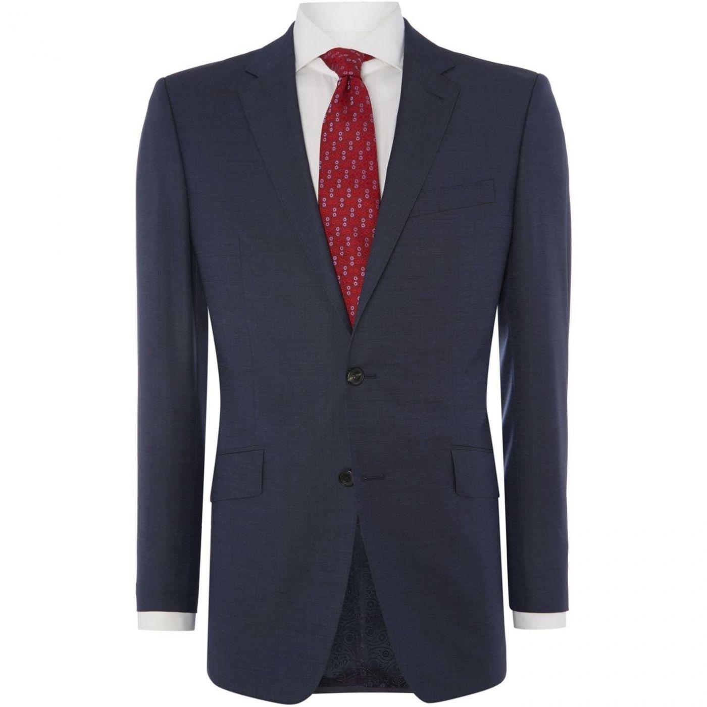 Simon Carter Pin Dot Regular Fit Suit Jacket