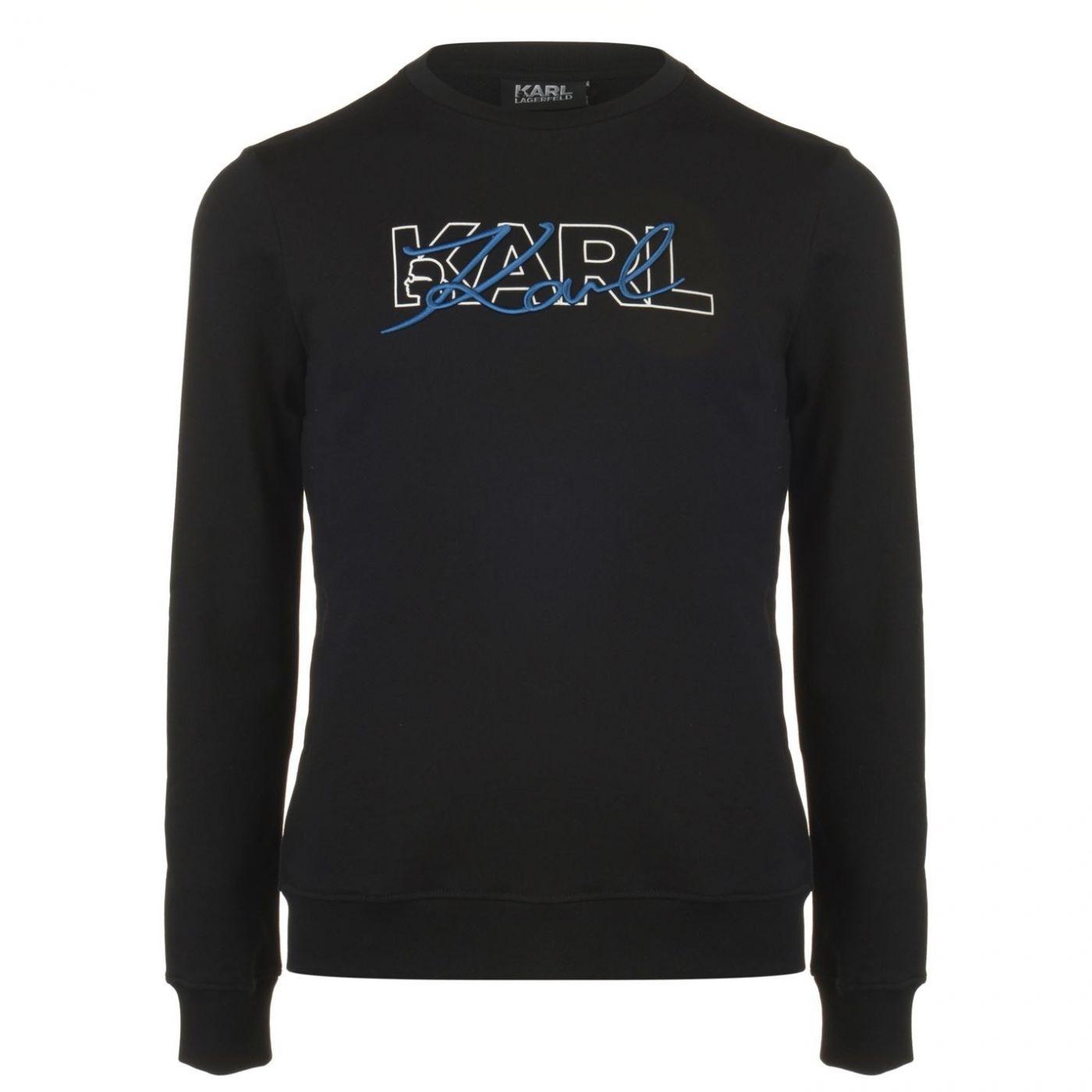 Karl Lagerfeld Karl Script Crew Sweatshirt Mens