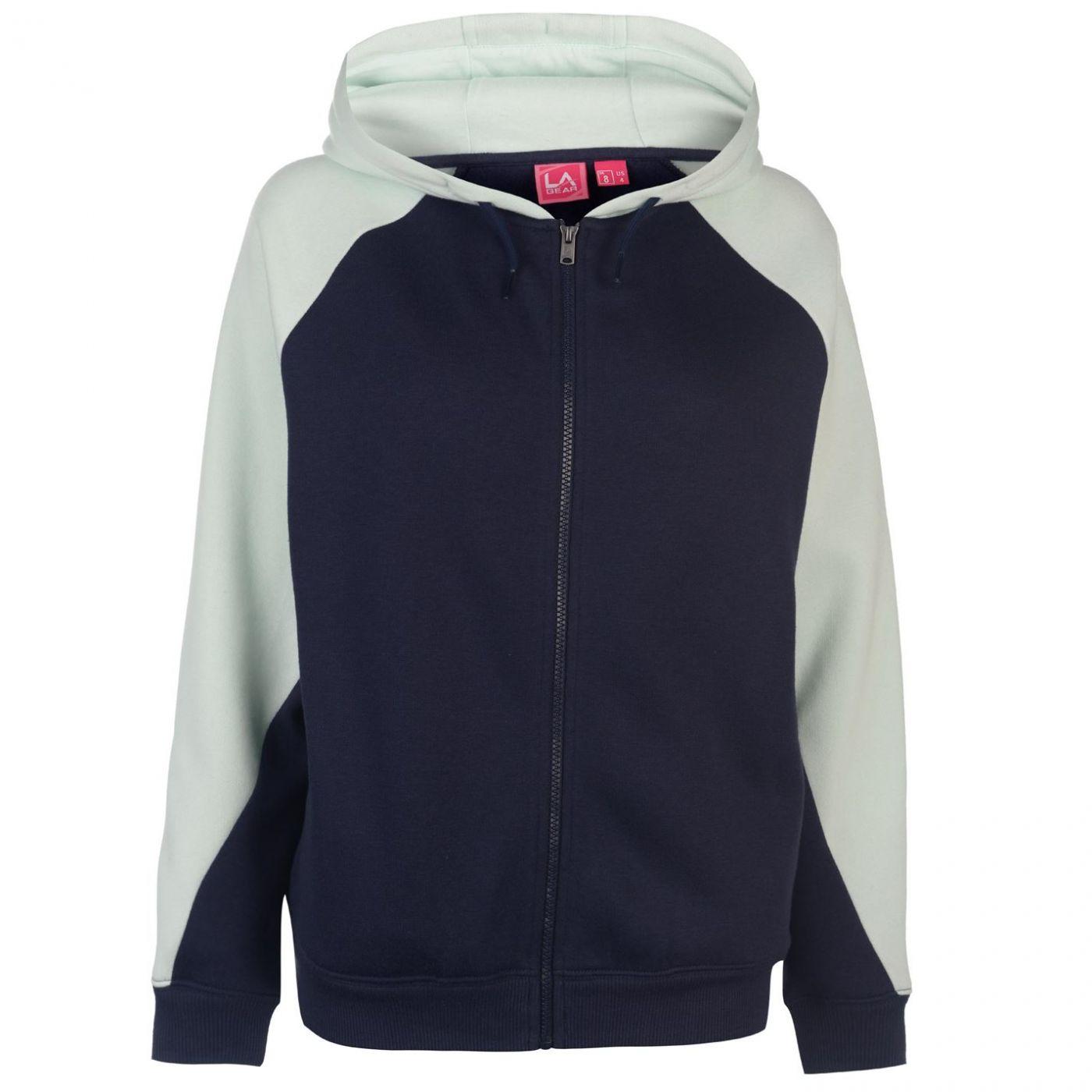 LA Gear Cut and Sew Full Zipped Hoody Ladies