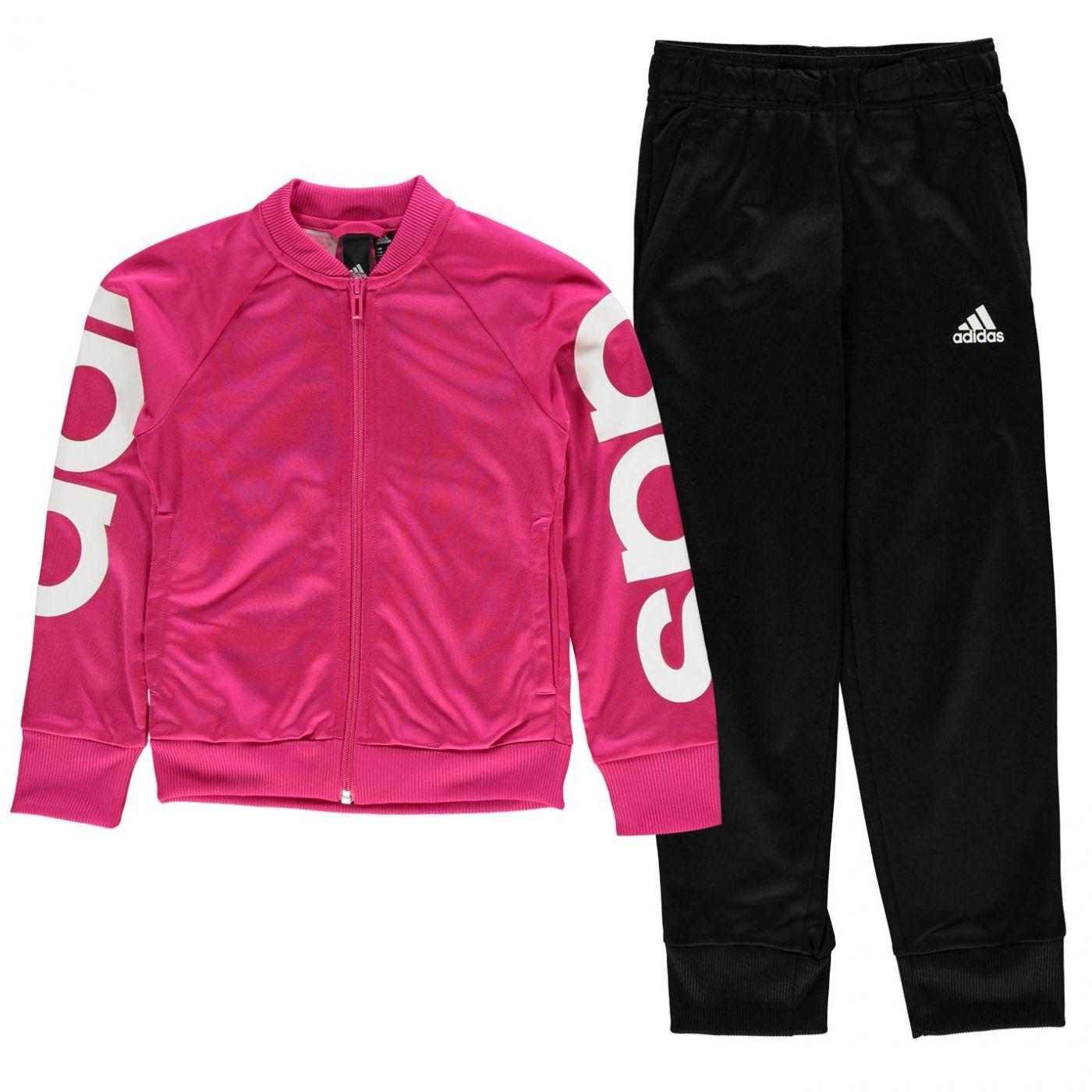 Adidas Poly Tracksuit Junior Girls
