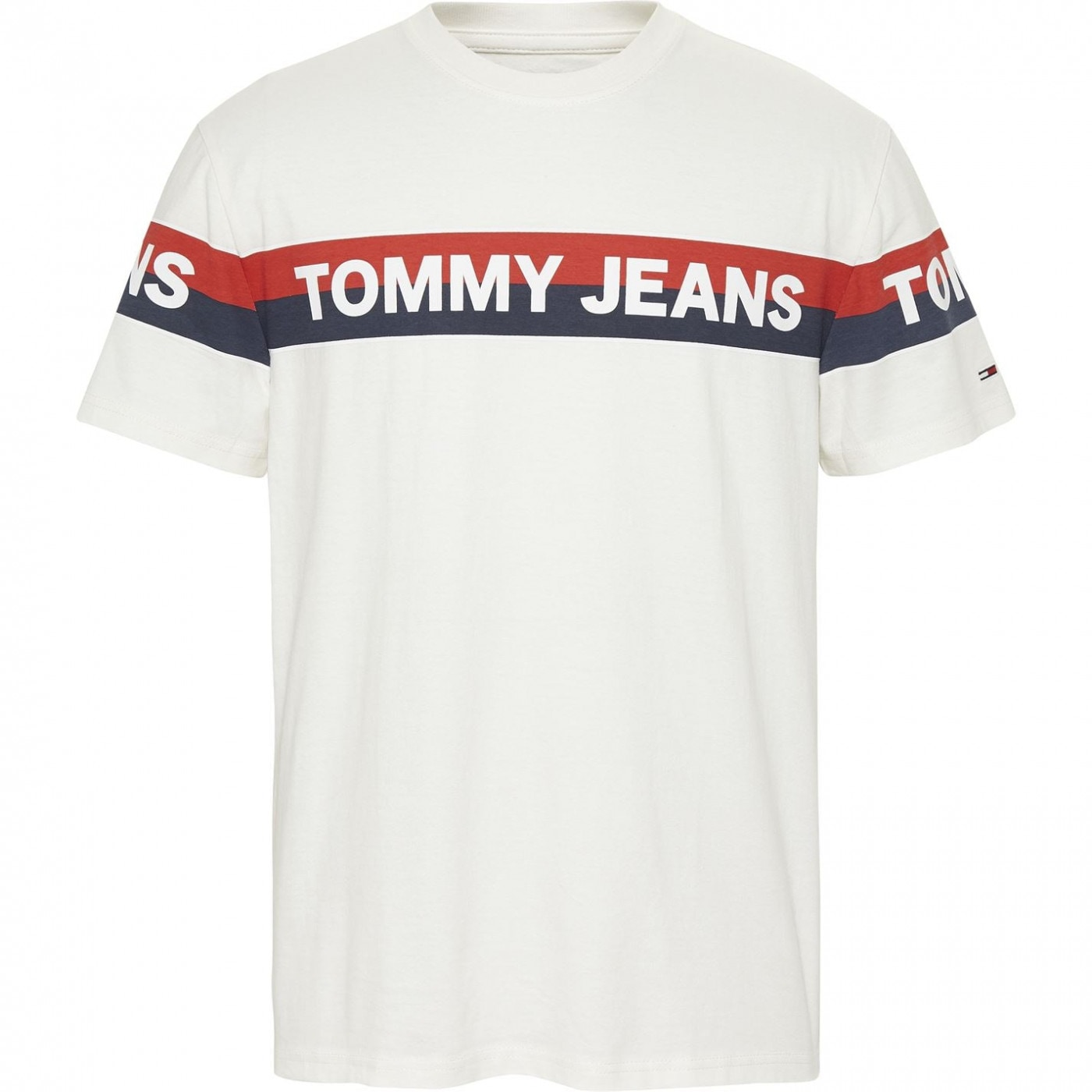 Tommy Jeans Double Stripe Logo T Shirt