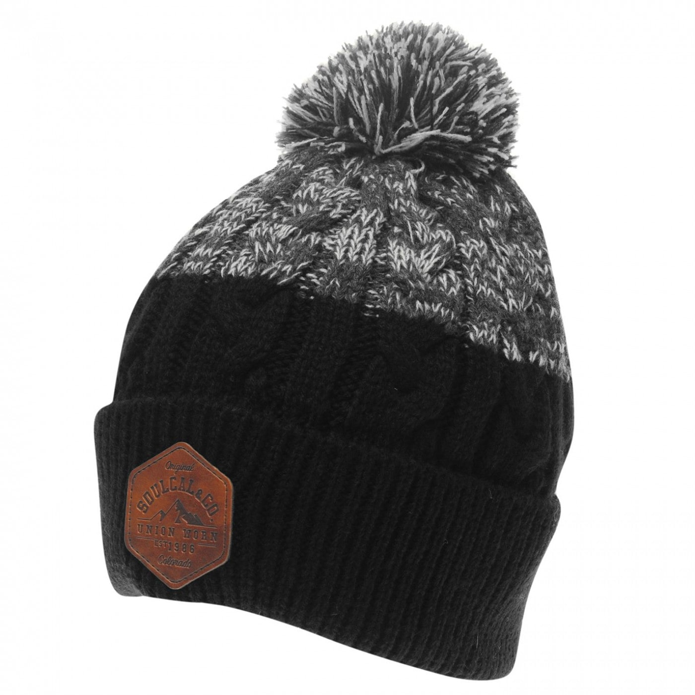 SoulCal Mixed Bobble Hat Mens