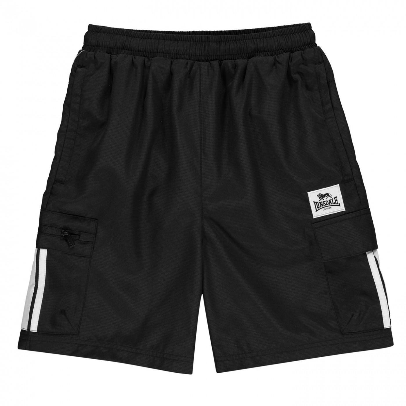 Lonsdale 2 Stripe Cargo Shorts Junior Boys