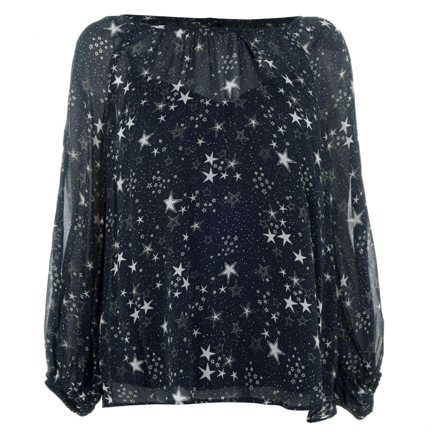 Velvet Star Print T-Shirt