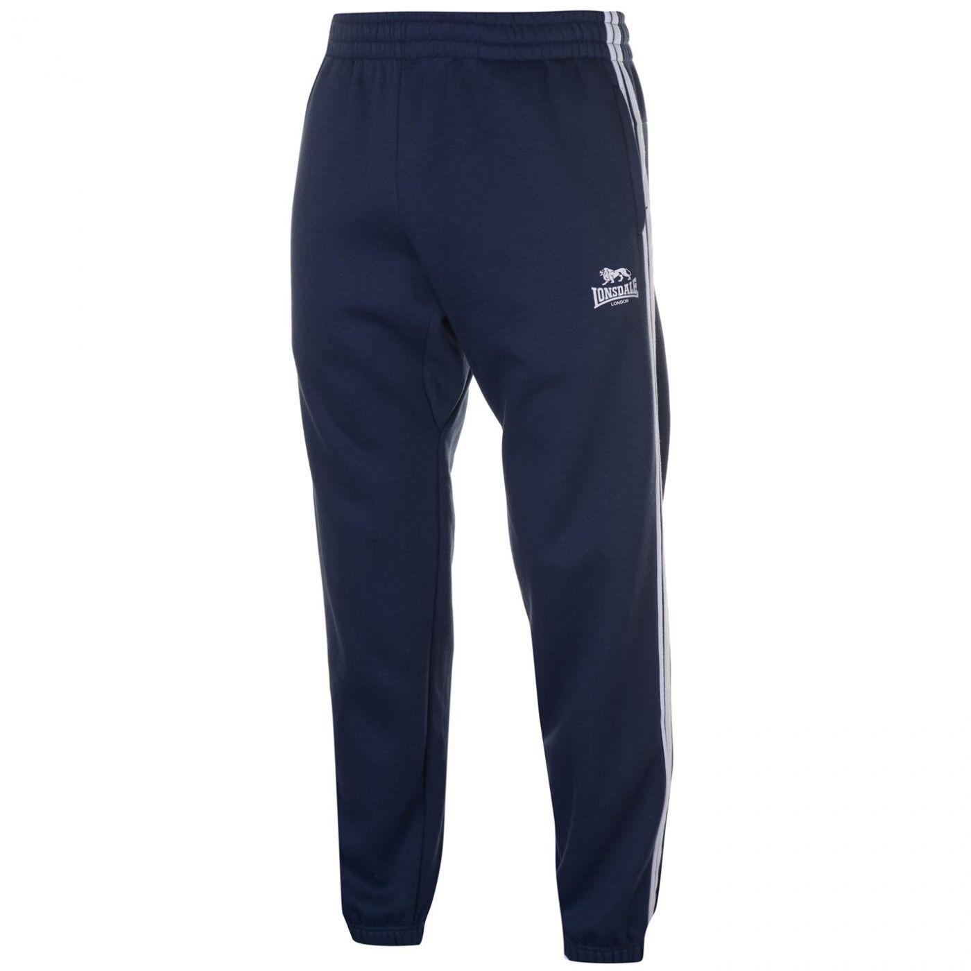 Lonsdale 2 Stripe Jogging Pants Mens