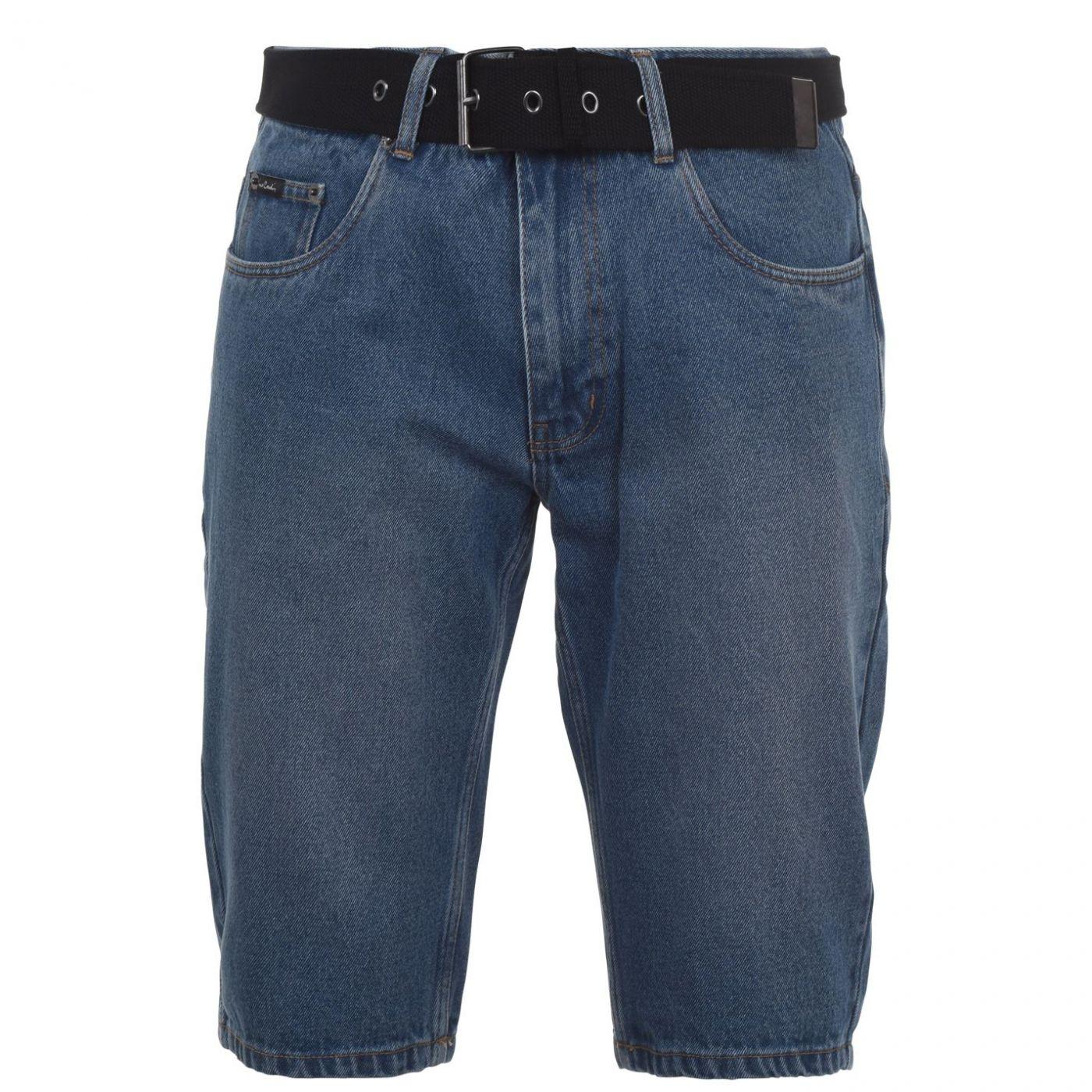 Men's shorts Pierre Cardin Web Belt Denim