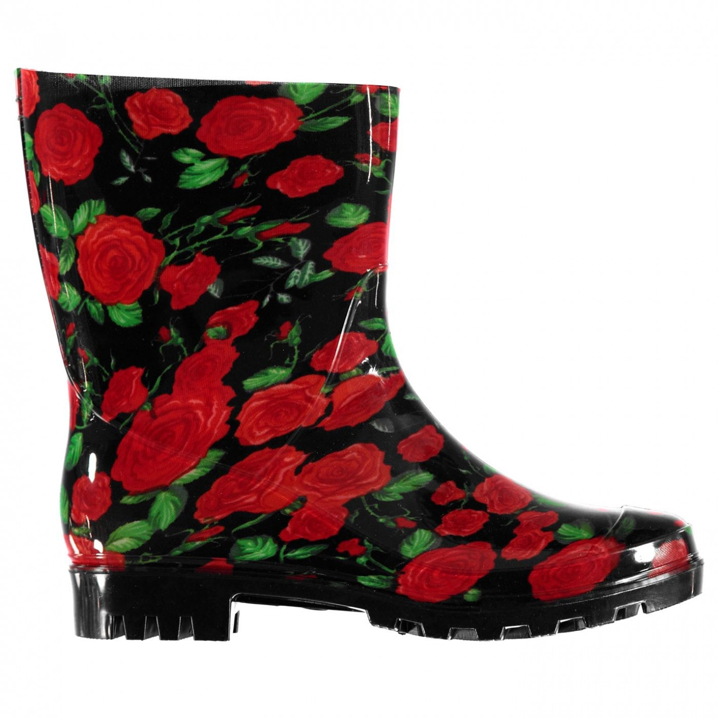 Rock and Rags Flower Wellies Ladies