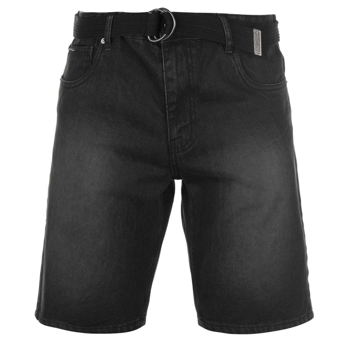 Pierre Cardin Denim Web Belt Shorts Mens