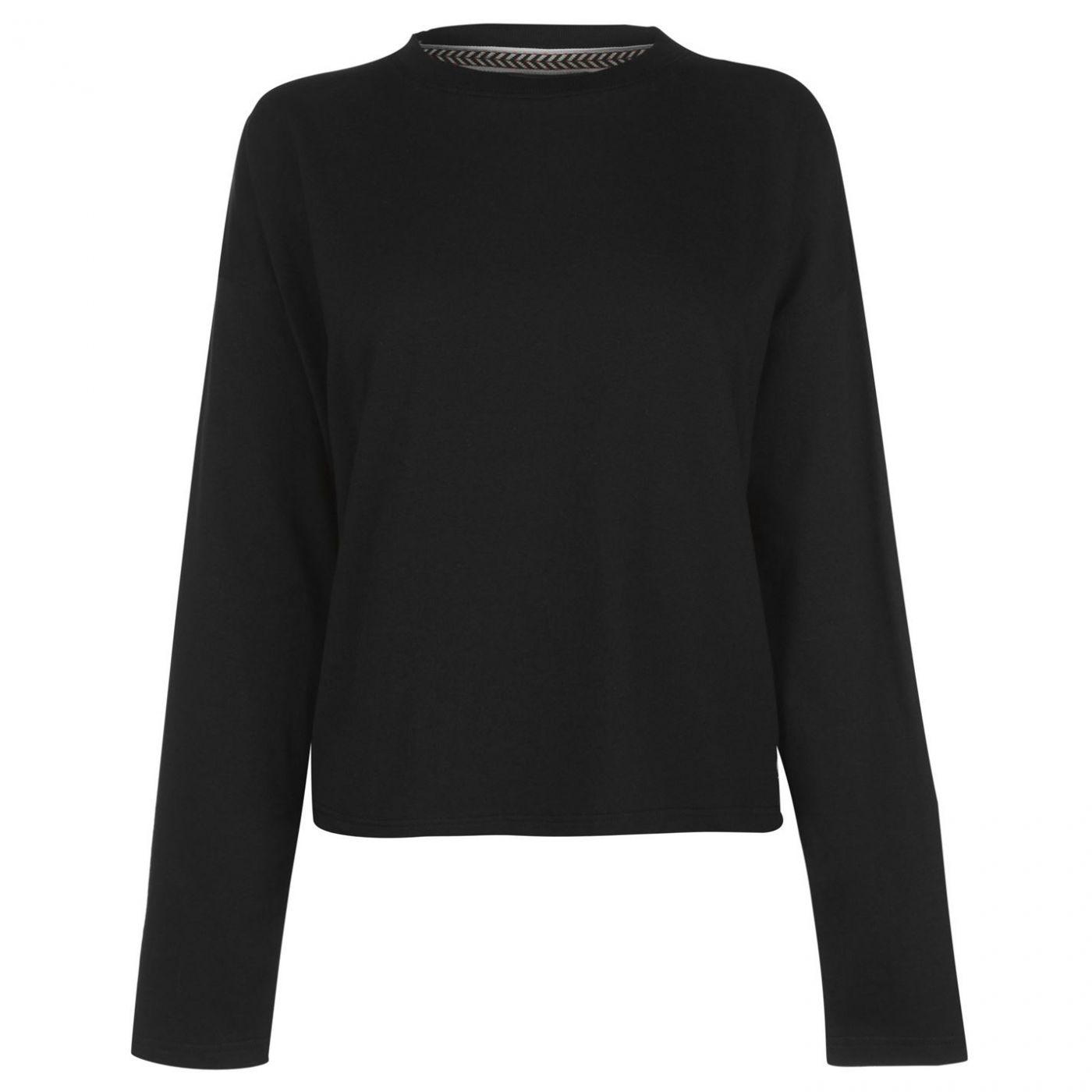 SoulCal Plain Crop Long Sleeve T Shirt Ladies