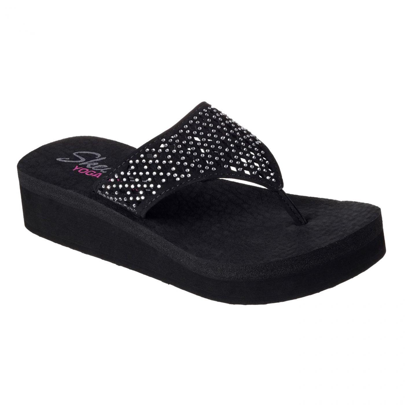 Skechers Vinyasa Flo Ladies Wedge Flip Flops