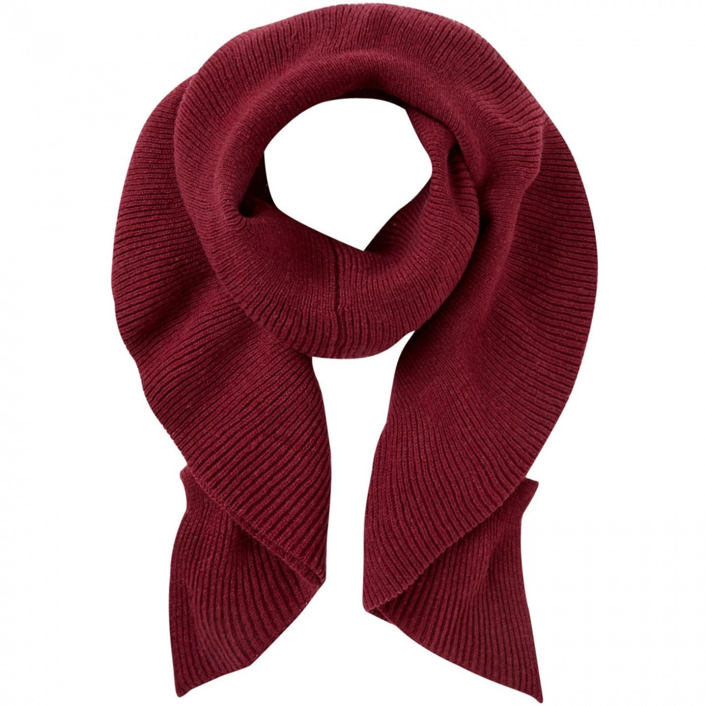 Linea Pleated knitted scarf