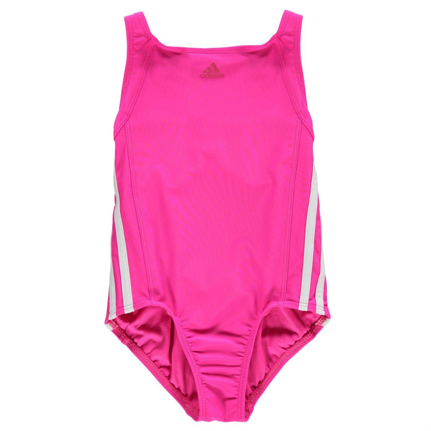 Adidas Three Stripe Swimsuit Junior  Girls