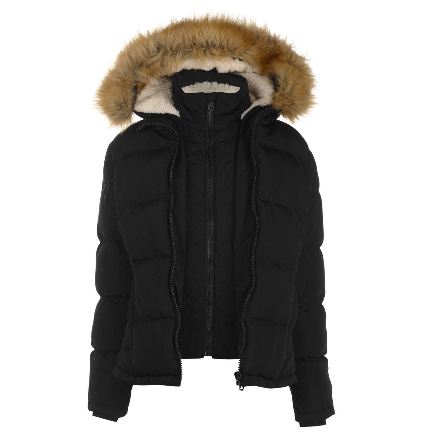 86915ad97e SoulCal Two Zip Bubble Jacket Ladies - FACTCOOL