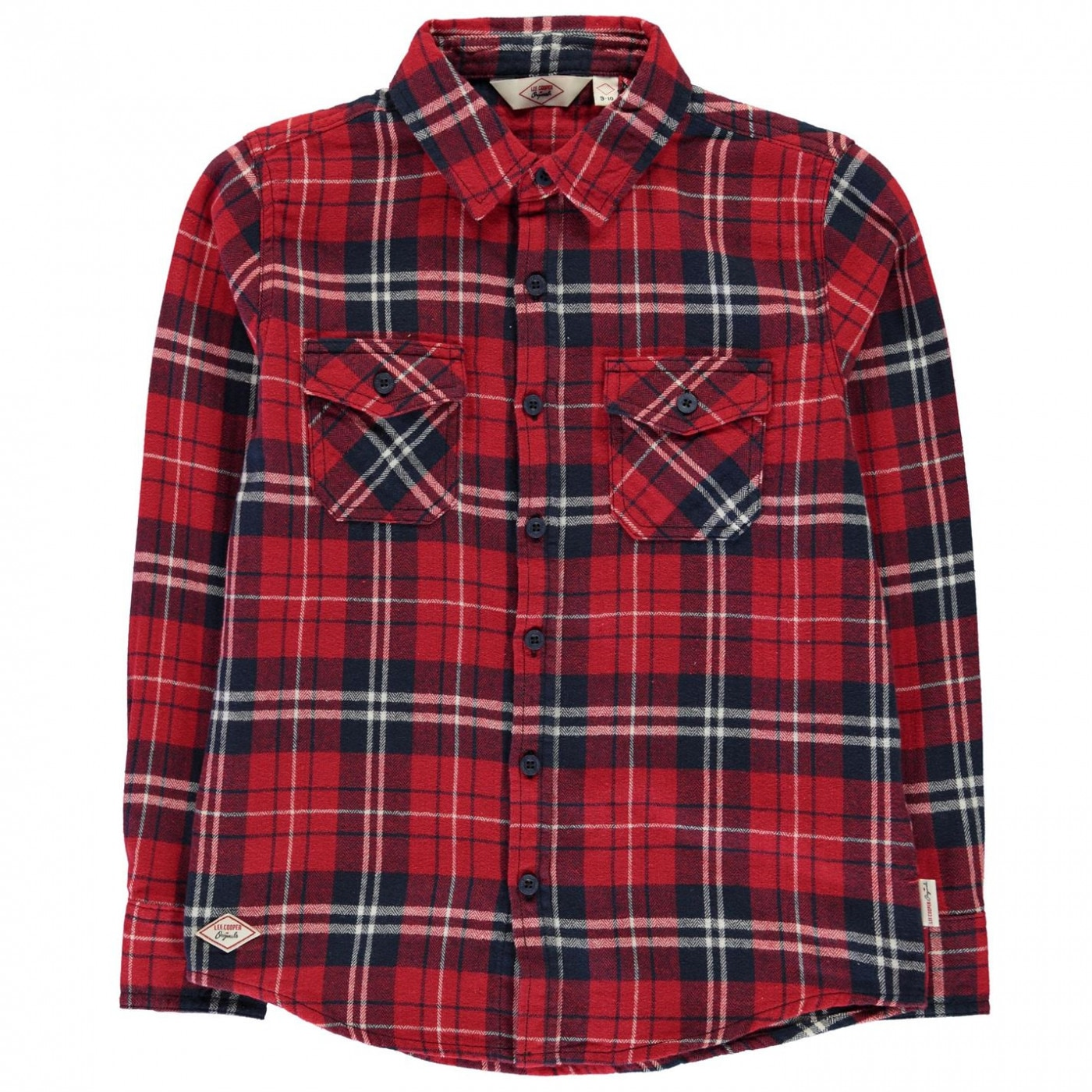 Lee Cooper Flannel Long Sleeve Shirt Junior Boys