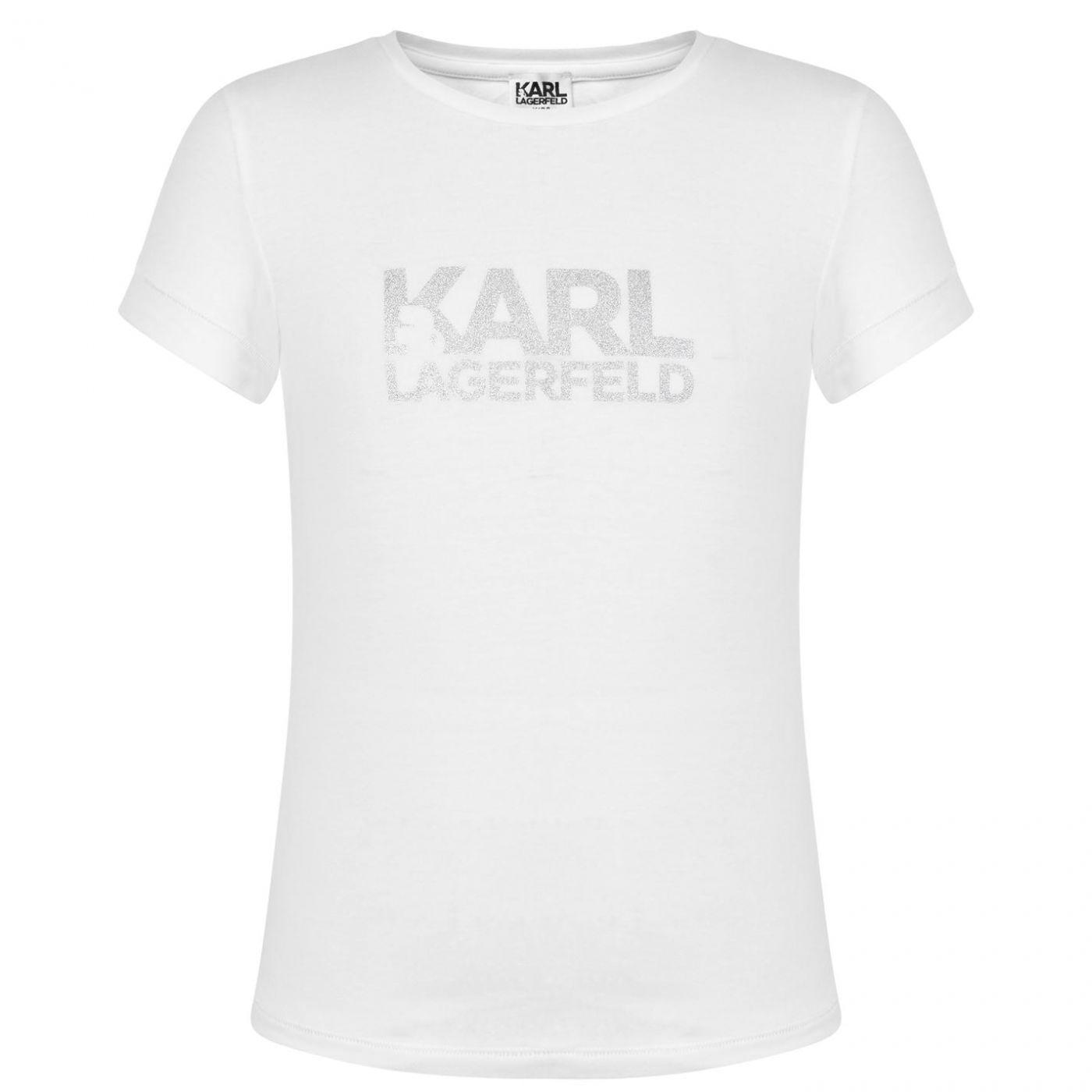 Karl Lagerfeld Girls Logo Short Sleeve T Shirt