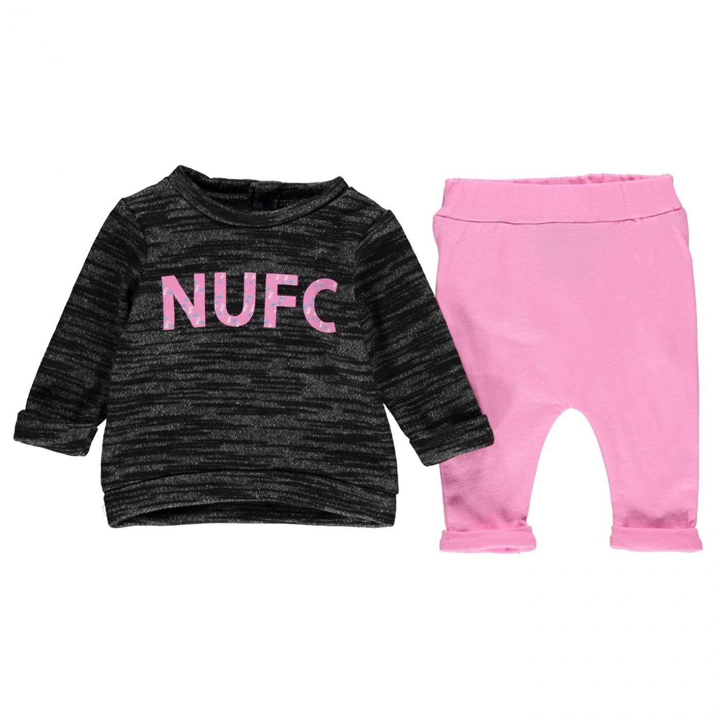 NUFC Logo 2 Piece Set Baby Girls