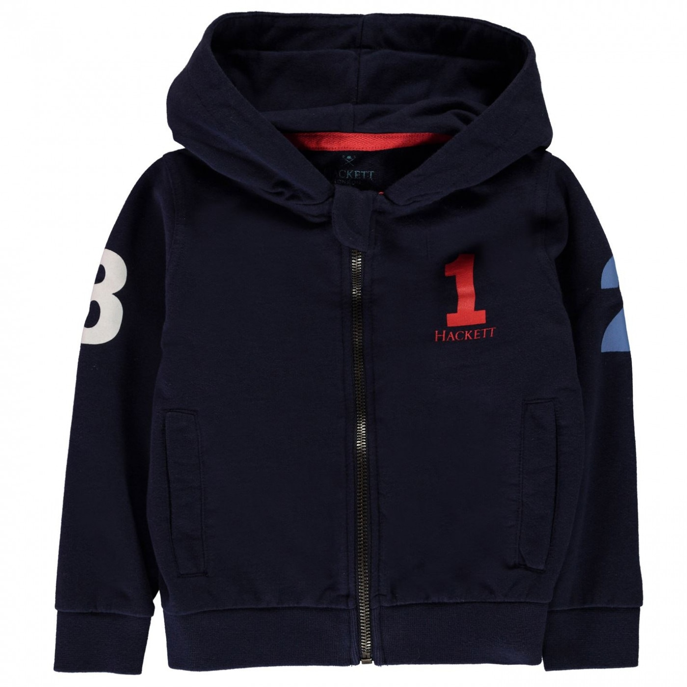 Hackett Boys Number 1 Printed Logo Full-Zip Hoodie
