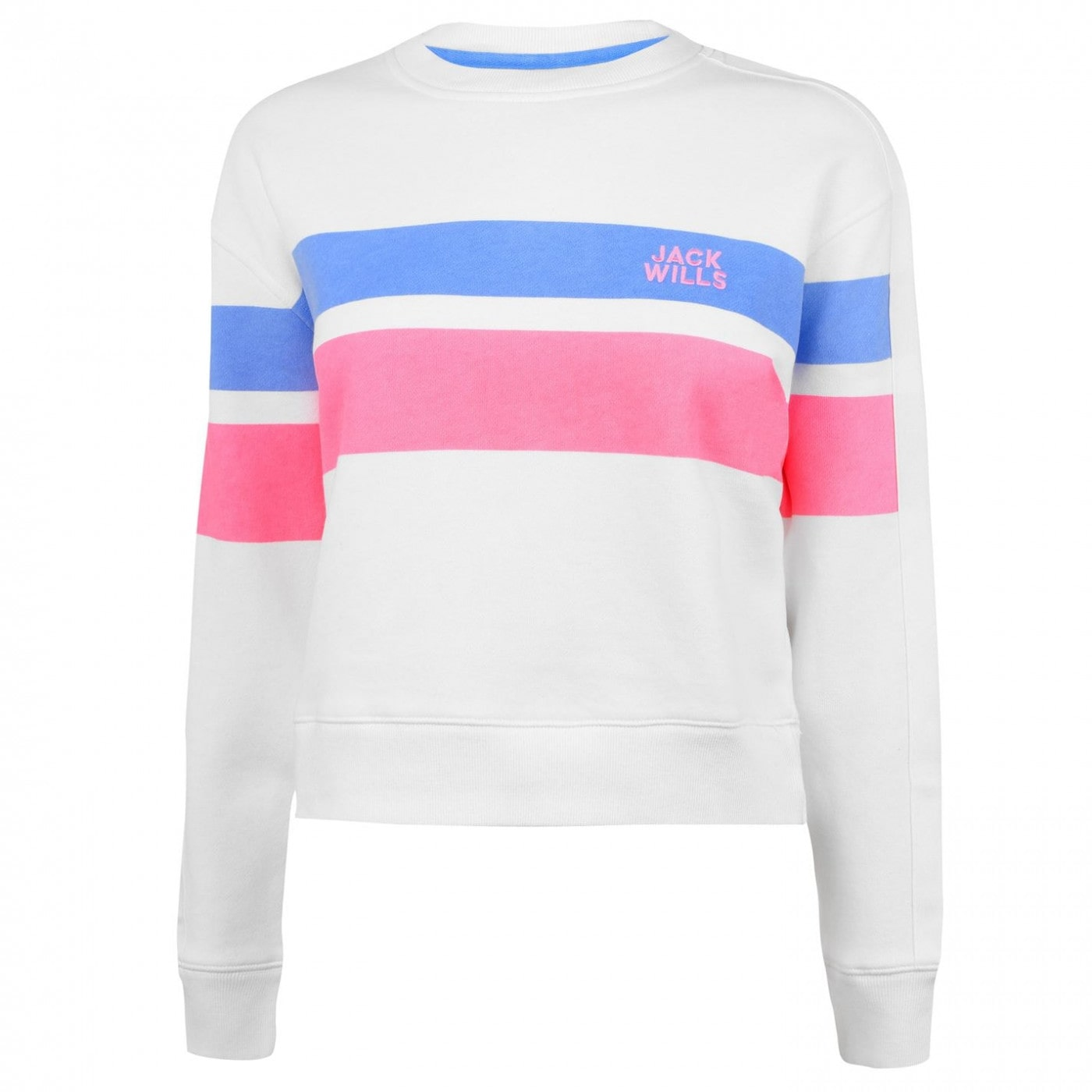 Jack Wills Mellor Track Stripe Crew Neck Sweatshirt