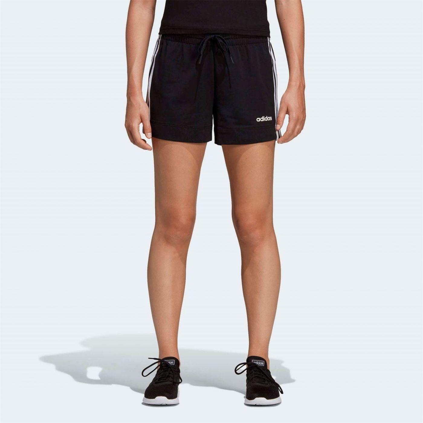 Adidas Essential 3 Stripe Shorts Ladies