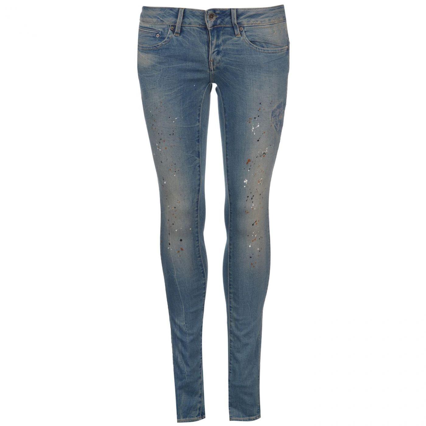 G Star Midge Low Super Skinny Jeans Womens