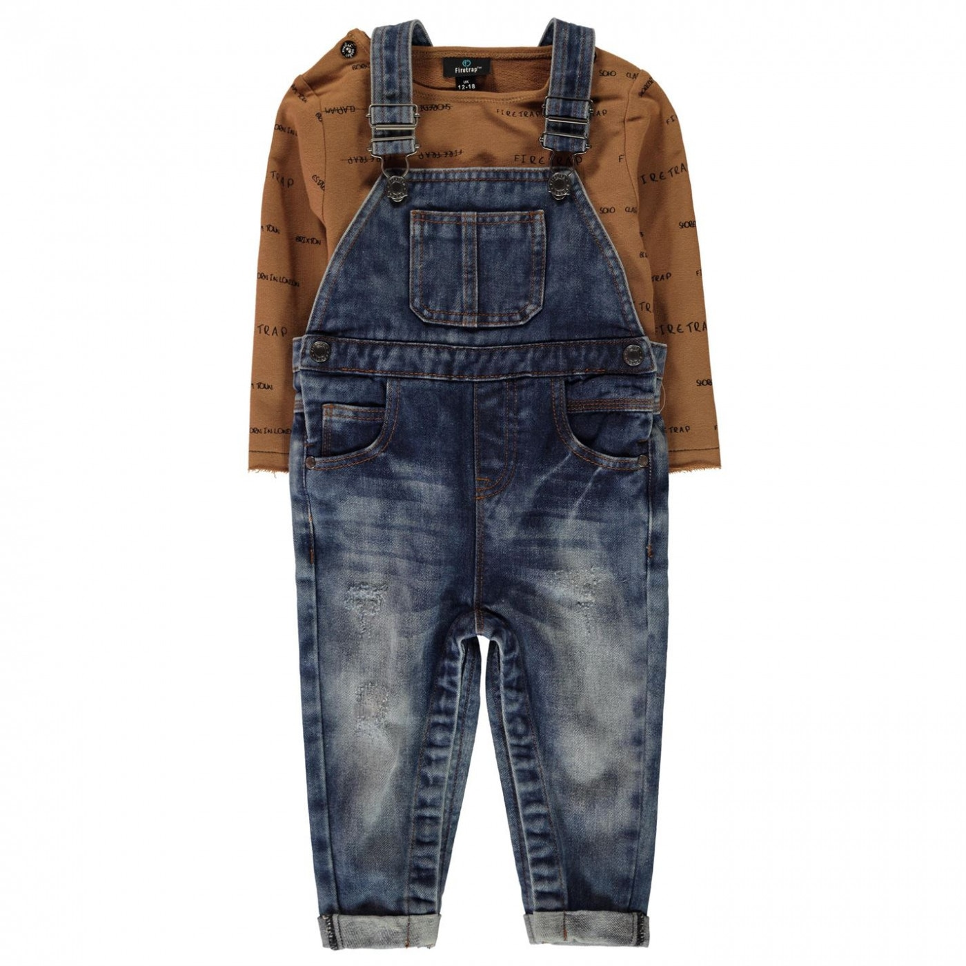 Firetrap Dungaree Set Baby Boys